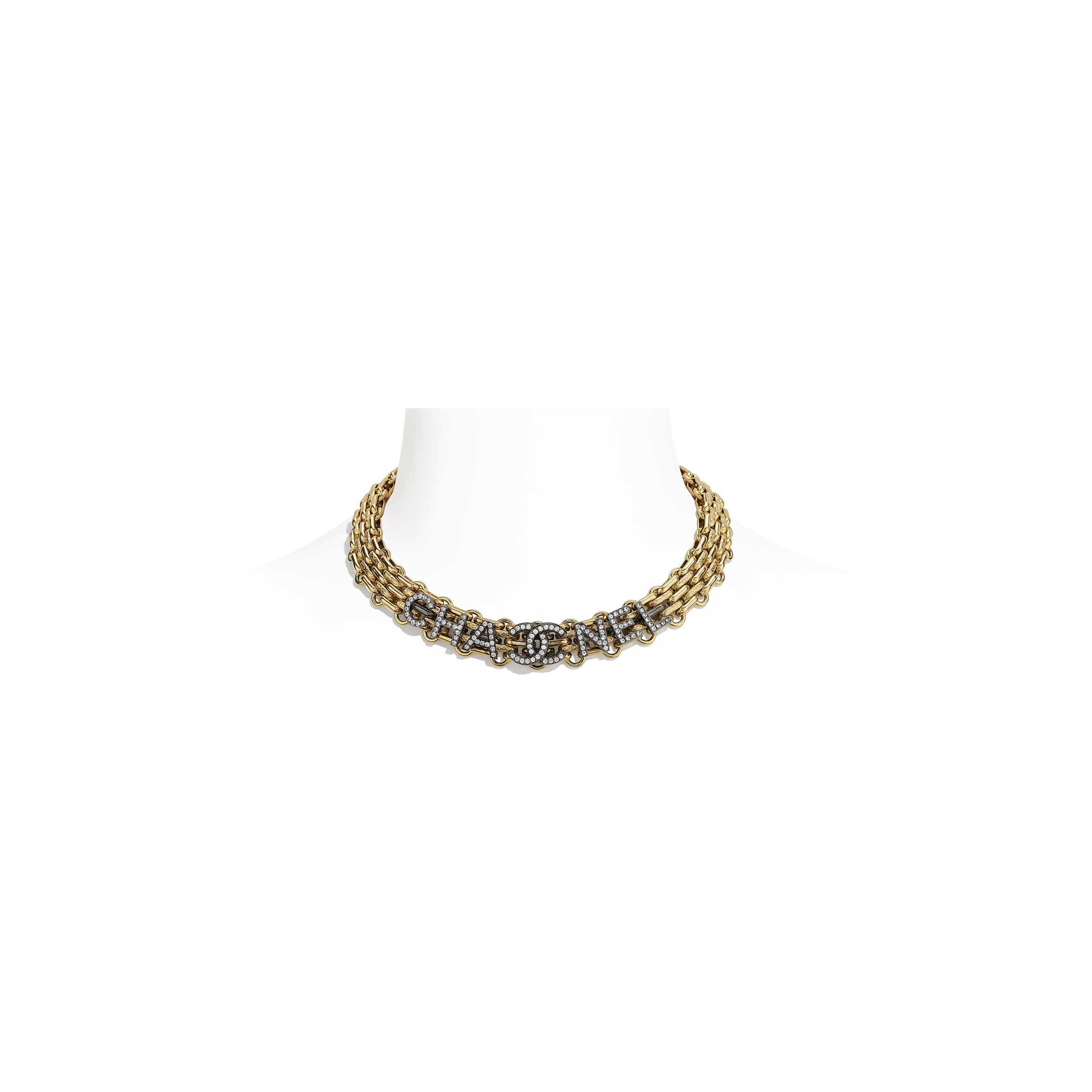 Necklace - Gold, Ruthenium & Crystal - Metal & Diamantés - CHANEL - Default view - see standard sized version
