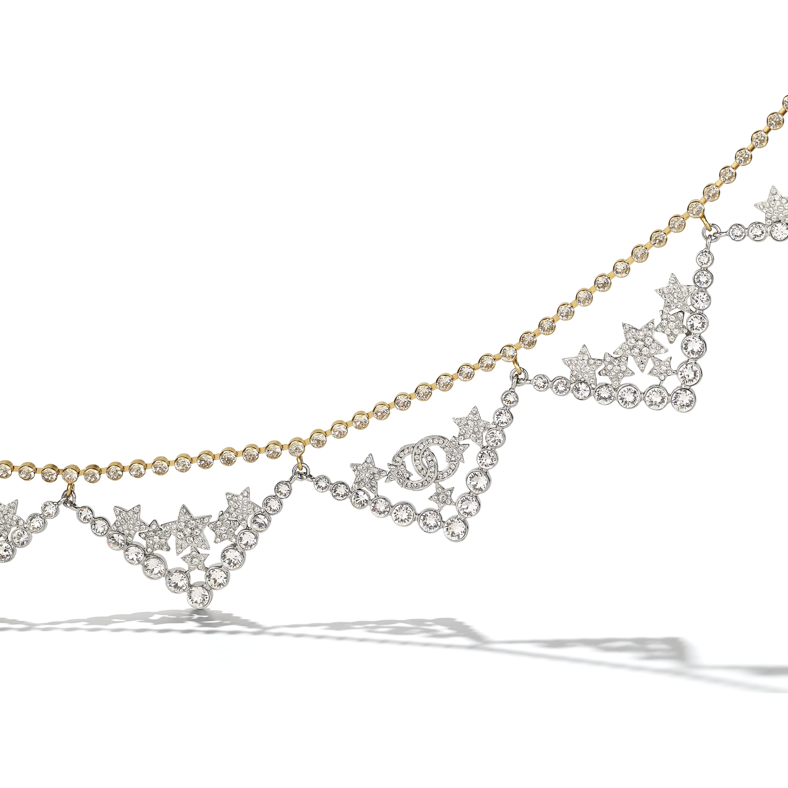 Necklace - Gold, Silver & Crystal - Metal & Diamantés - CHANEL - Alternative view - see standard sized version