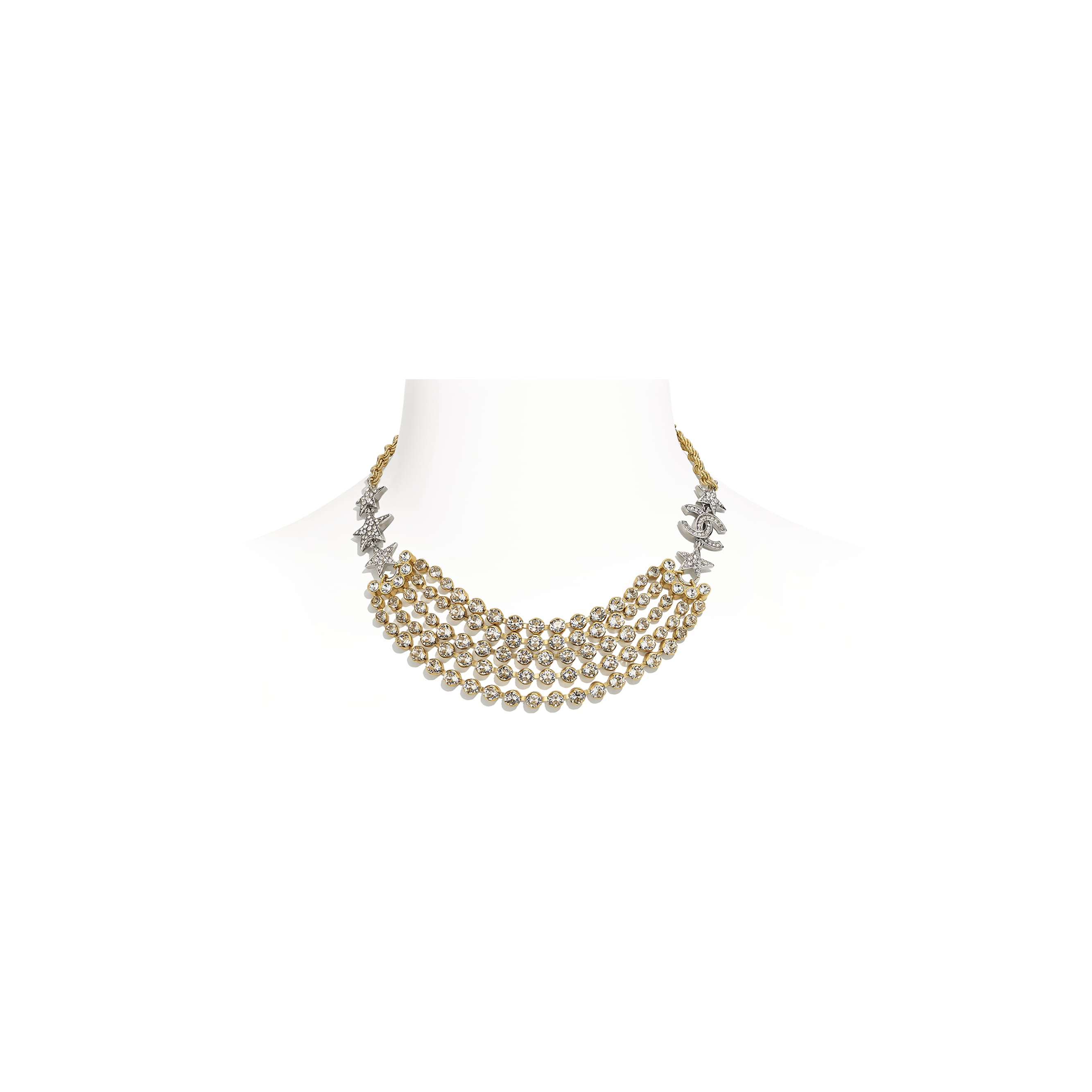 Necklace - Gold, Silver & Crystal - Metal & Diamantés - CHANEL - Default view - see standard sized version
