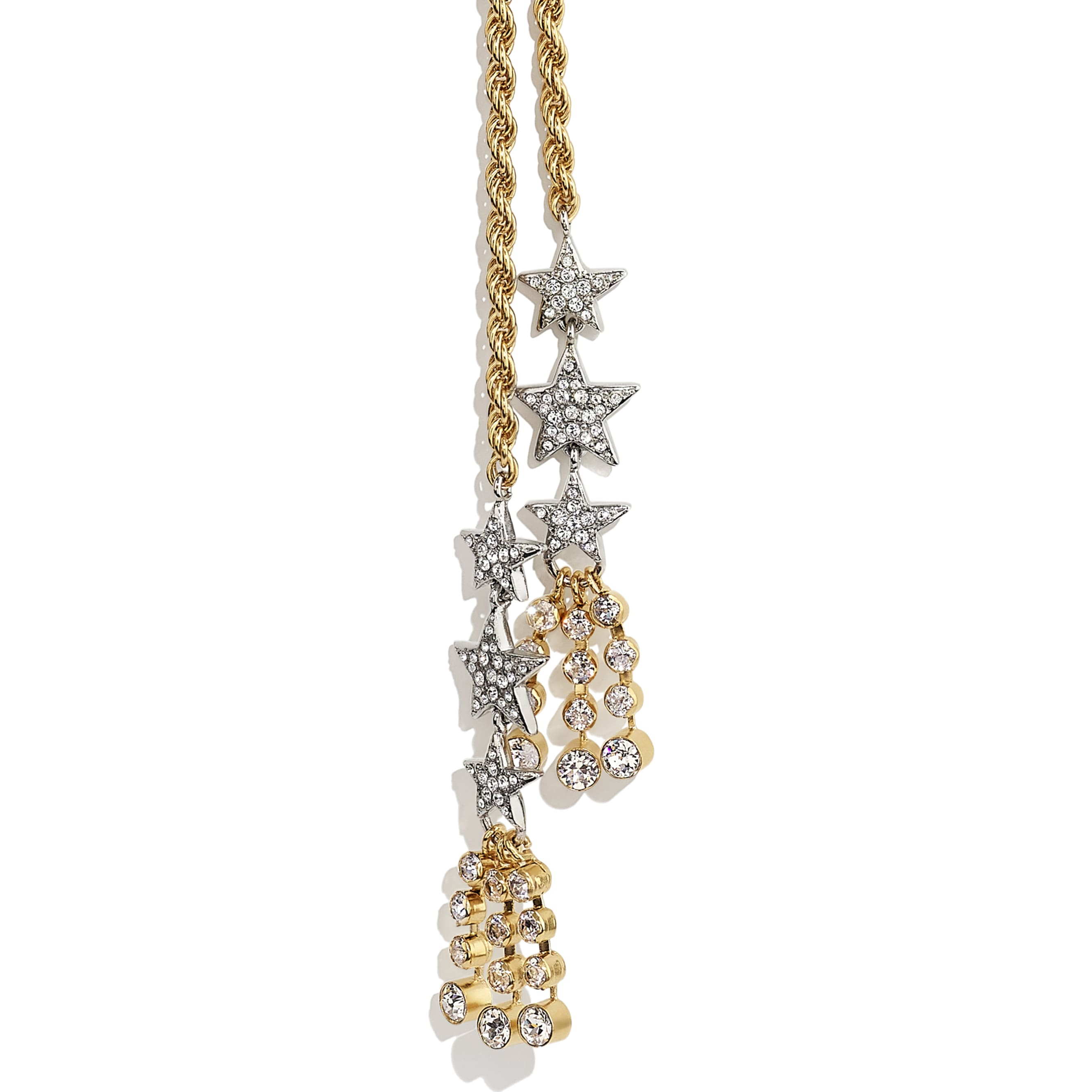 Necklace - Gold, Silver & Crystal - Metal & Diamantés - CHANEL - Other view - see standard sized version