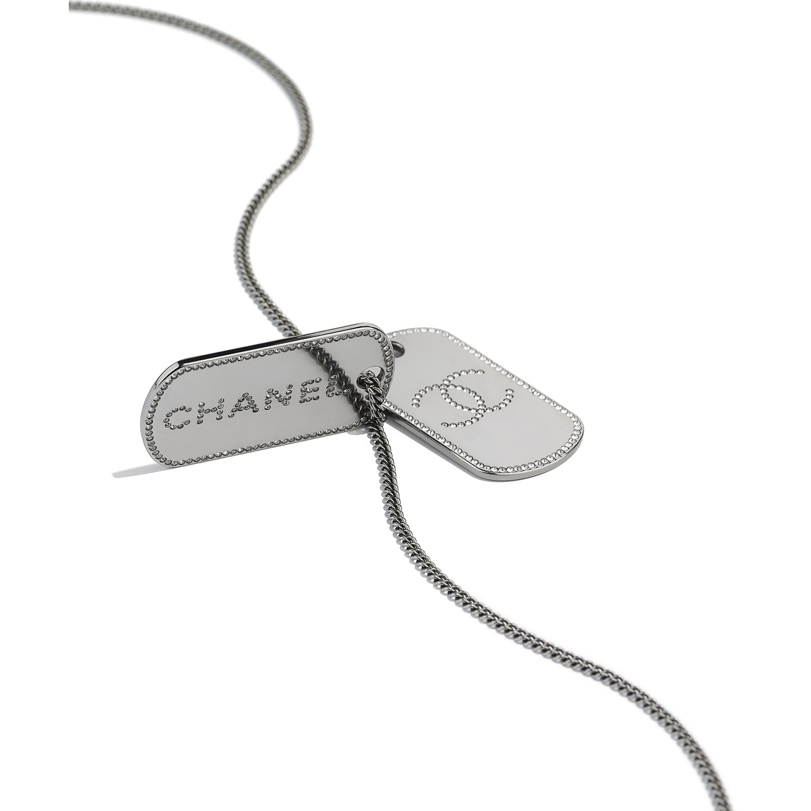 Necklace - Ruthenium & Crystal - Metal & Diamantés - CHANEL - Alternative view - see standard sized version