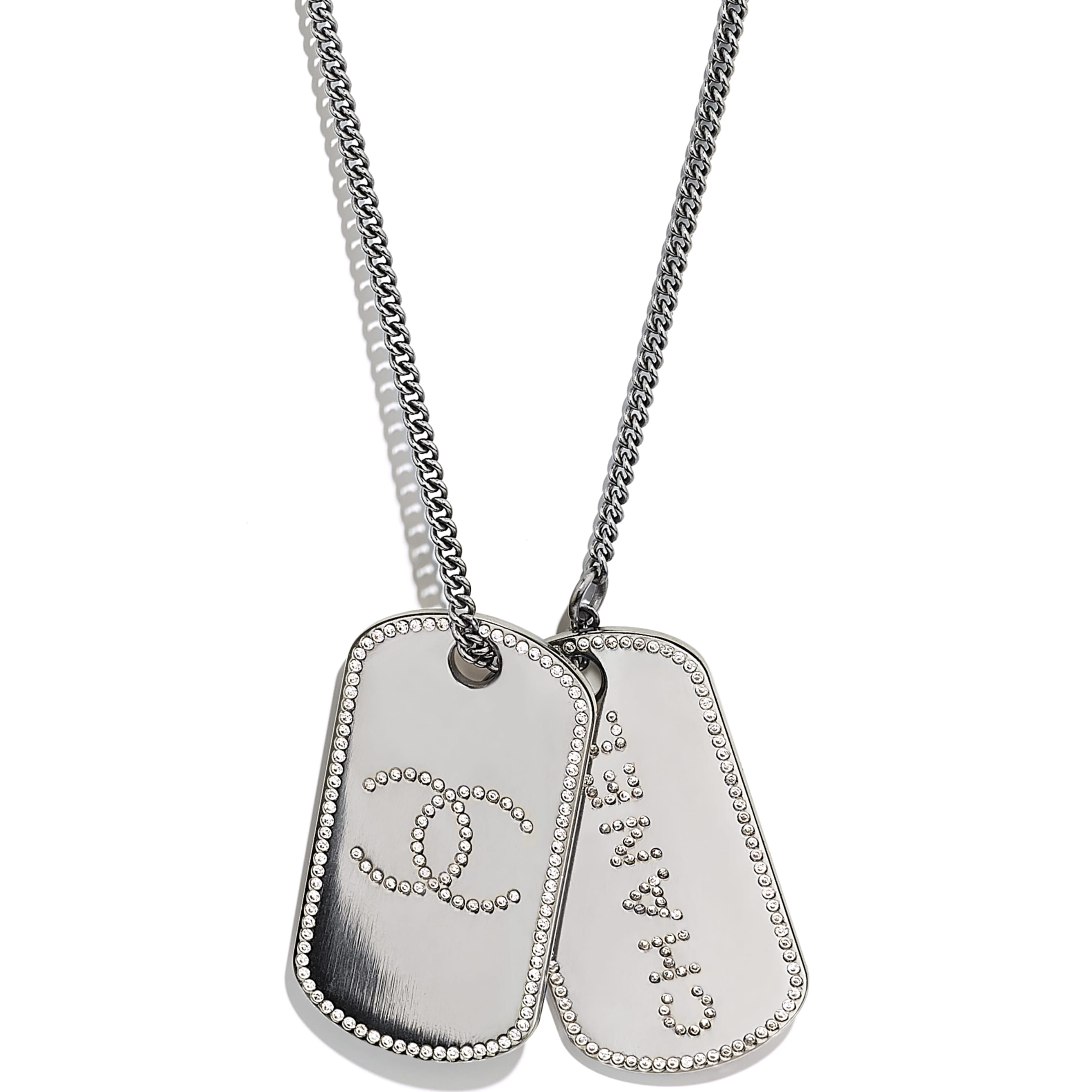 Necklace - Ruthenium & Crystal - Metal & Diamantés - CHANEL - Other view - see standard sized version