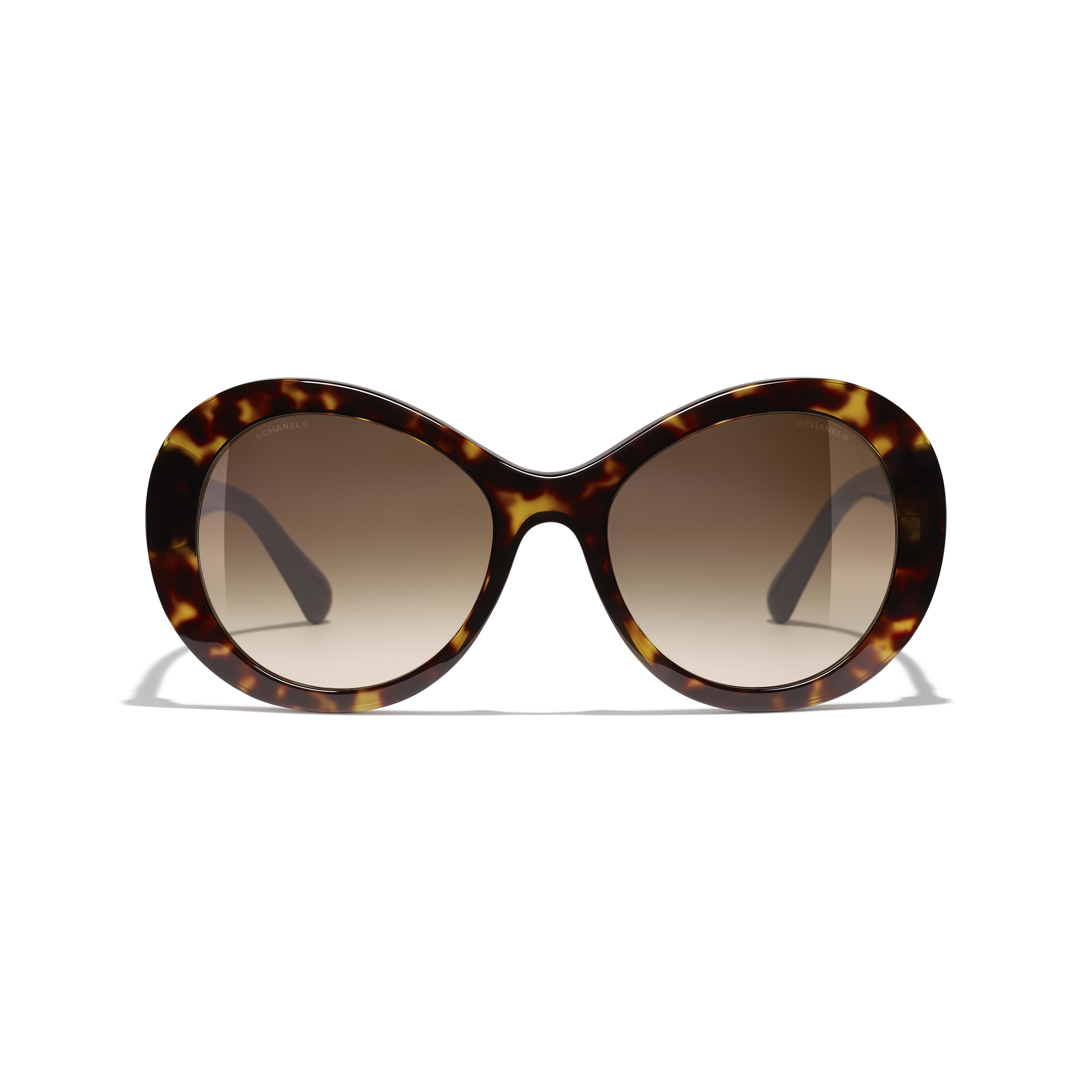 Oval Sunglasses - Dark Tortoise - Acetate - Alternative view - see standard sized version