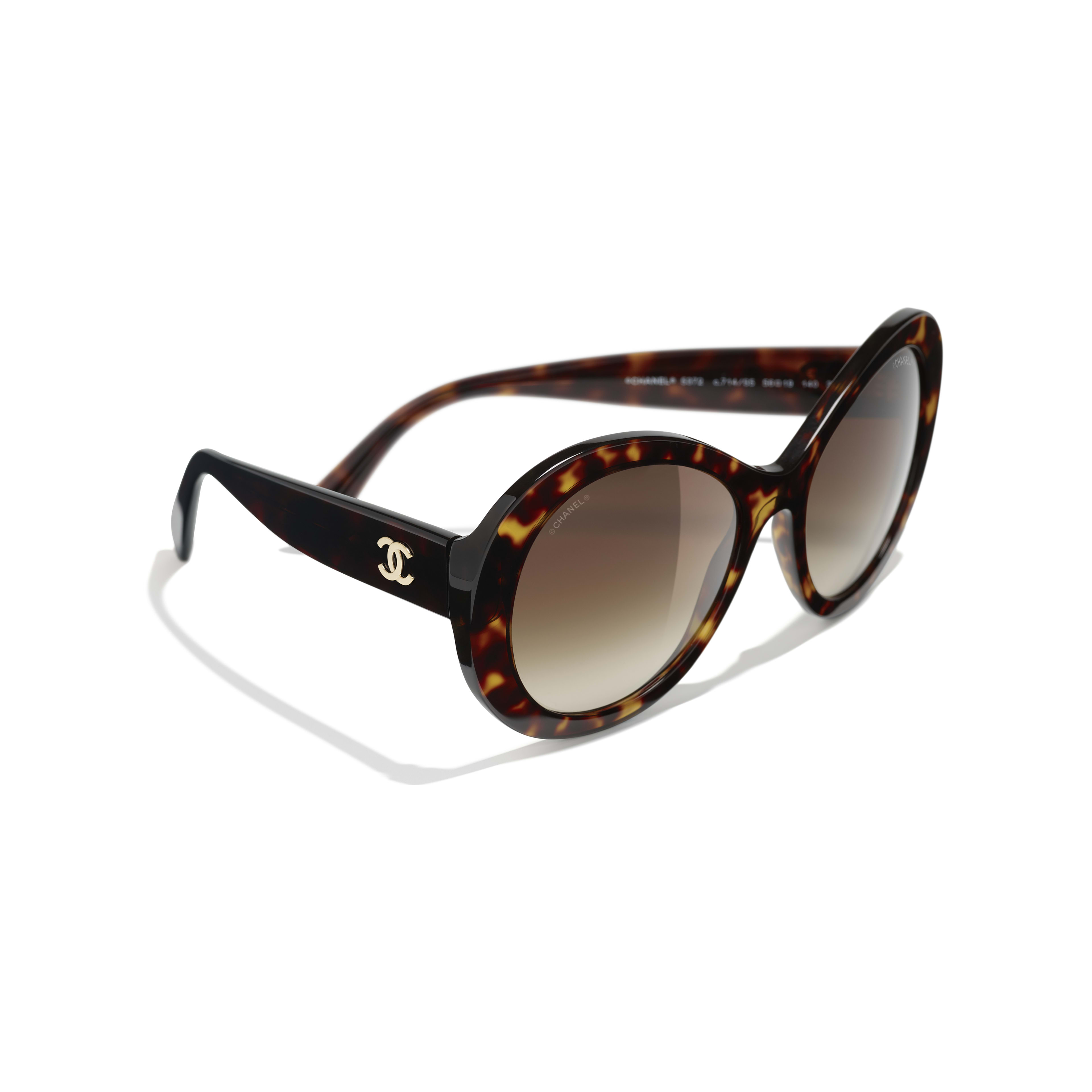 Oval Sunglasses - Dark Tortoise - Acetate - Extra view - see standard sized version