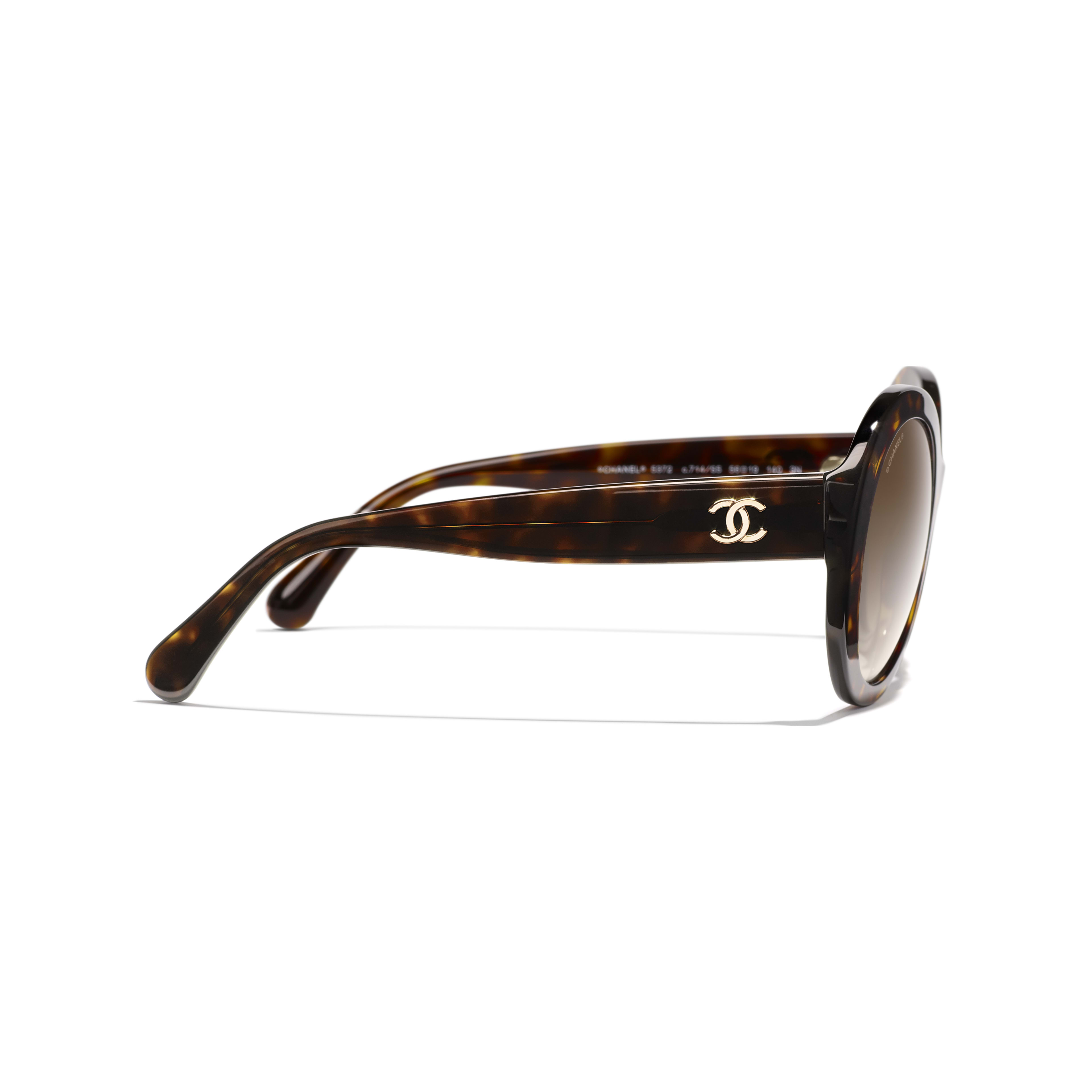 Oval Sunglasses - Dark Tortoise - Acetate - Other view - see standard sized version