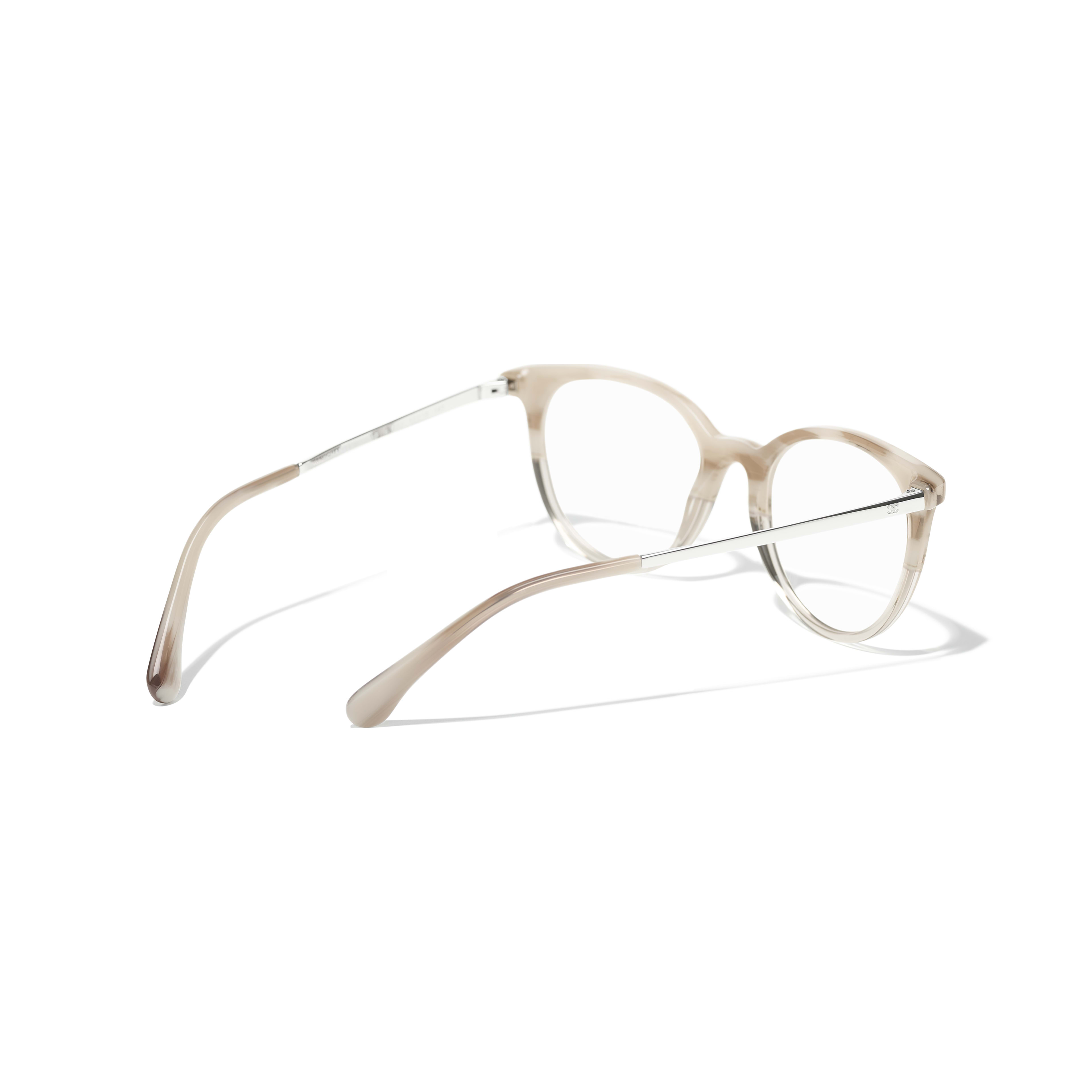 Pantos Eyeglasses - Beige - Acetate, Metal & Strass - CHANEL - Extra view - see standard sized version