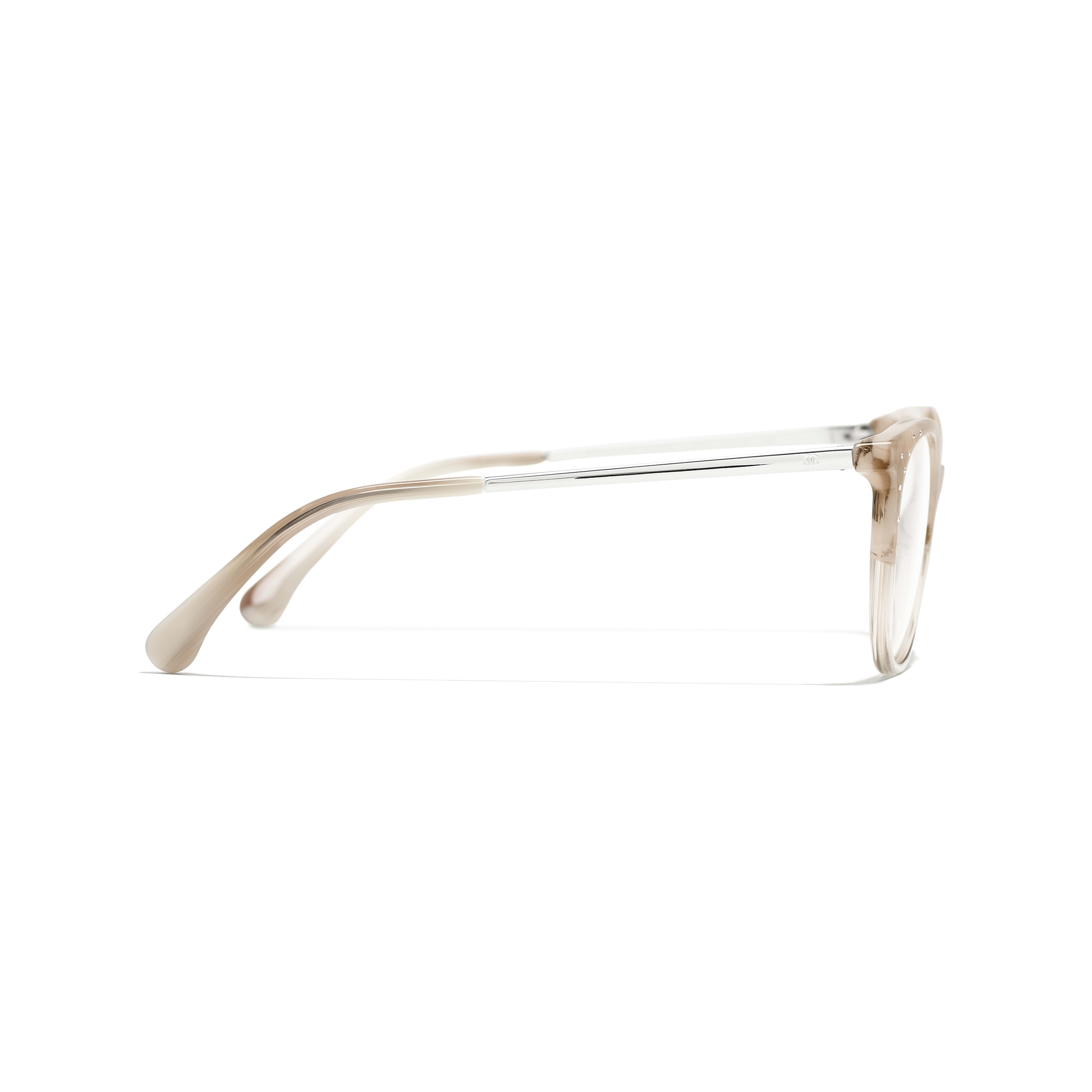 Pantos Eyeglasses - Beige - Acetate, Metal & Diamanté - CHANEL - Other view - see standard sized version