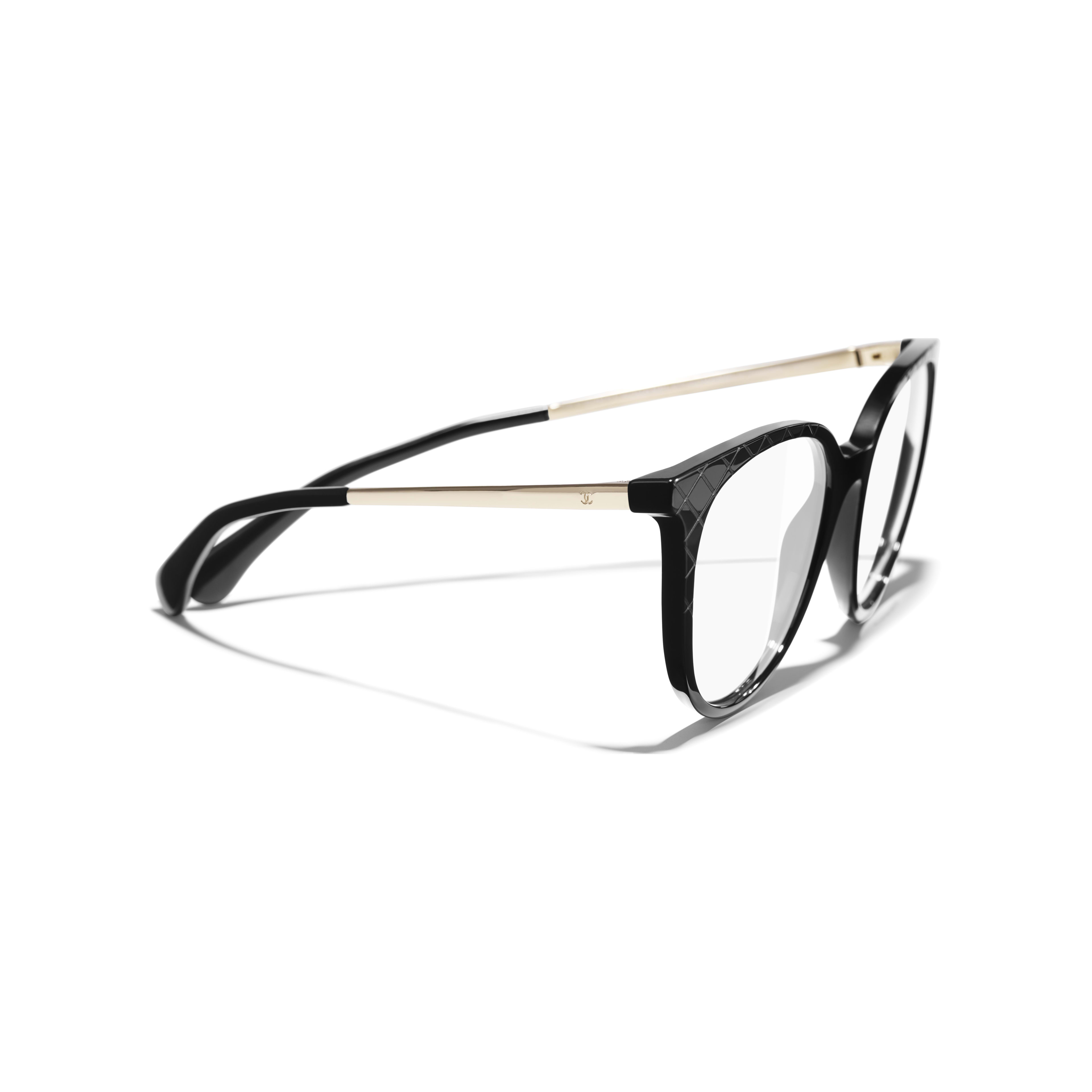 Pantos Eyeglasses - Black - Acetate & Metal - Extra view - see standard sized version