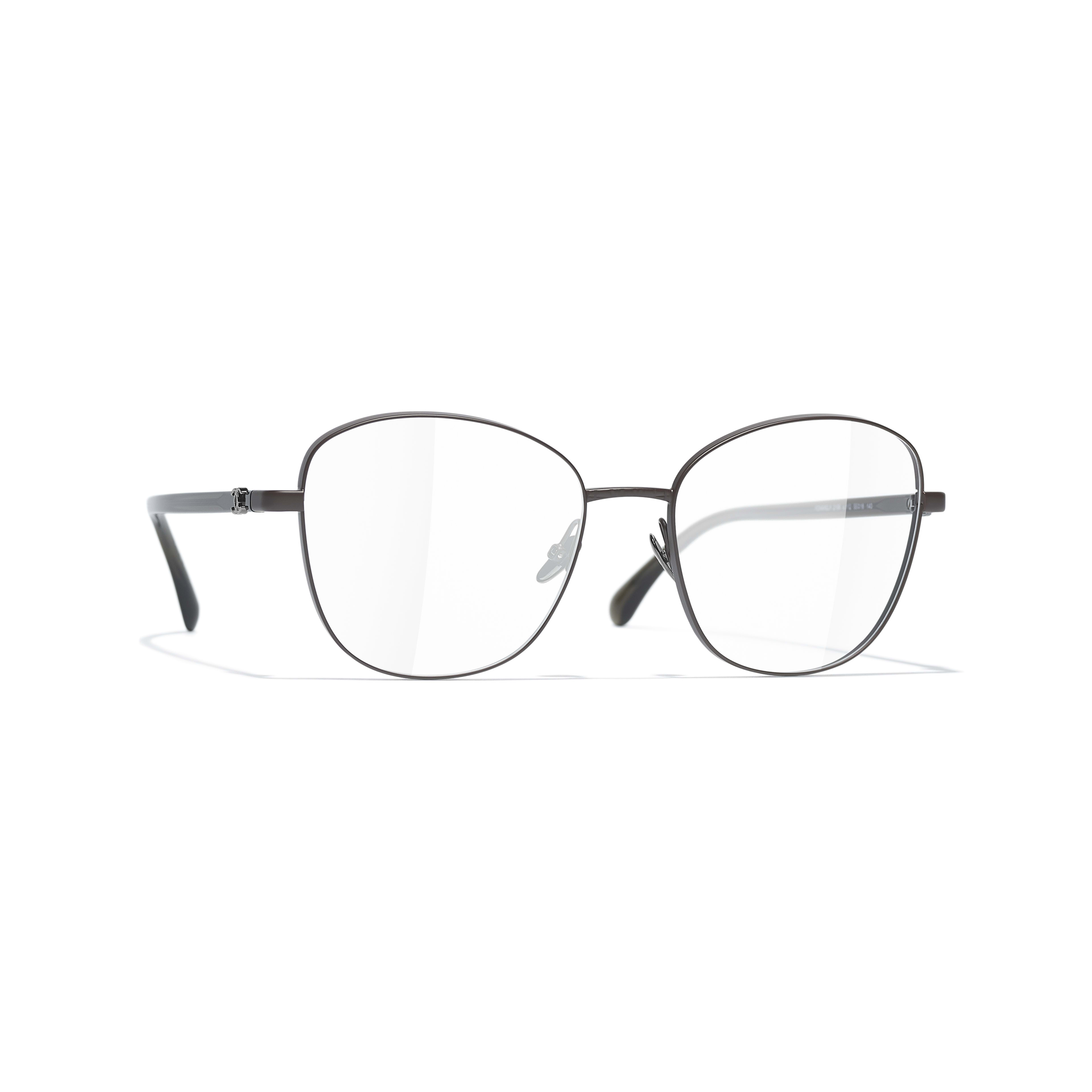 Pantos Eyeglasses - Brown - Acetate & Metal - CHANEL - Default view - see standard sized version