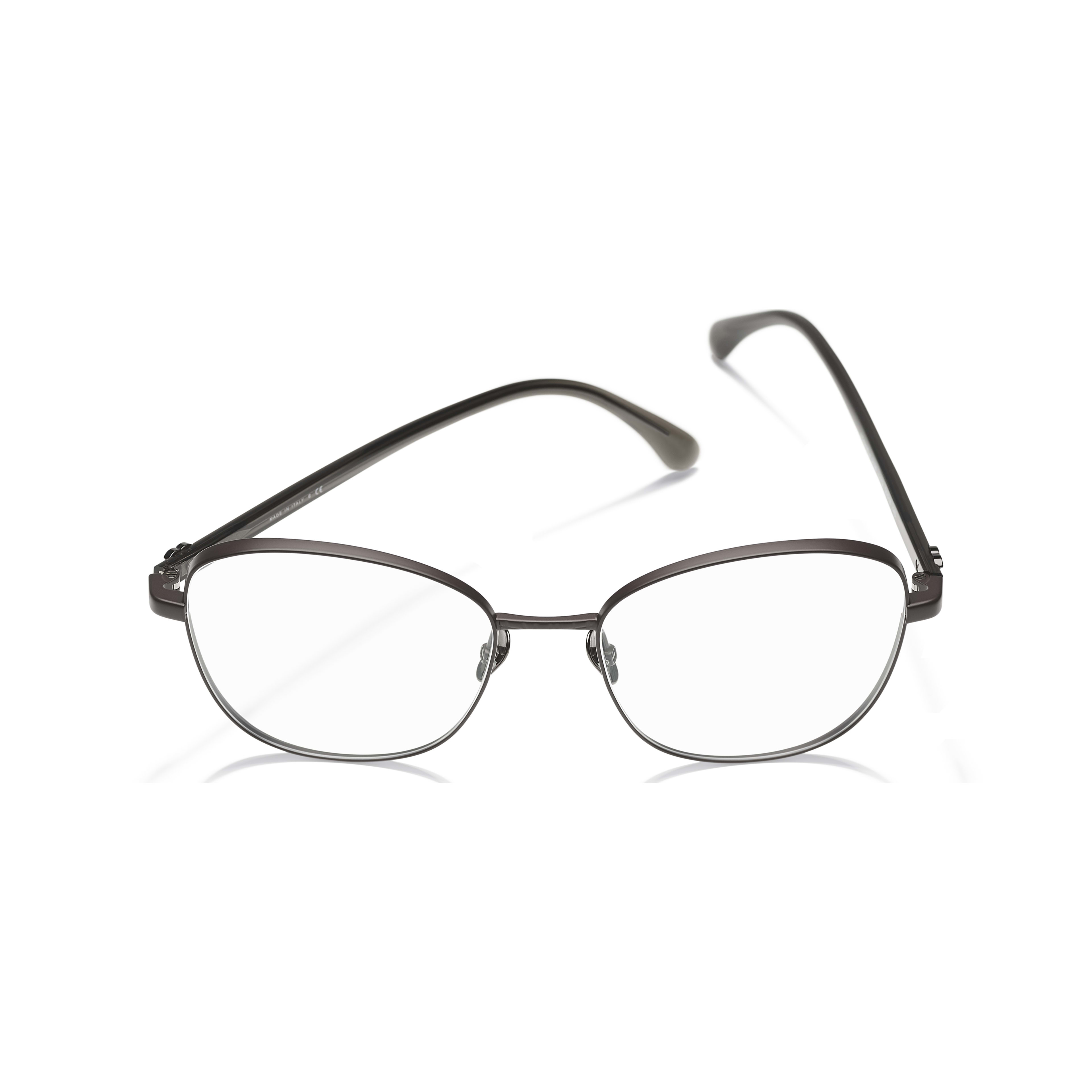 Pantos Eyeglasses - Brown - Acetate & Metal - CHANEL - Extra view - see standard sized version
