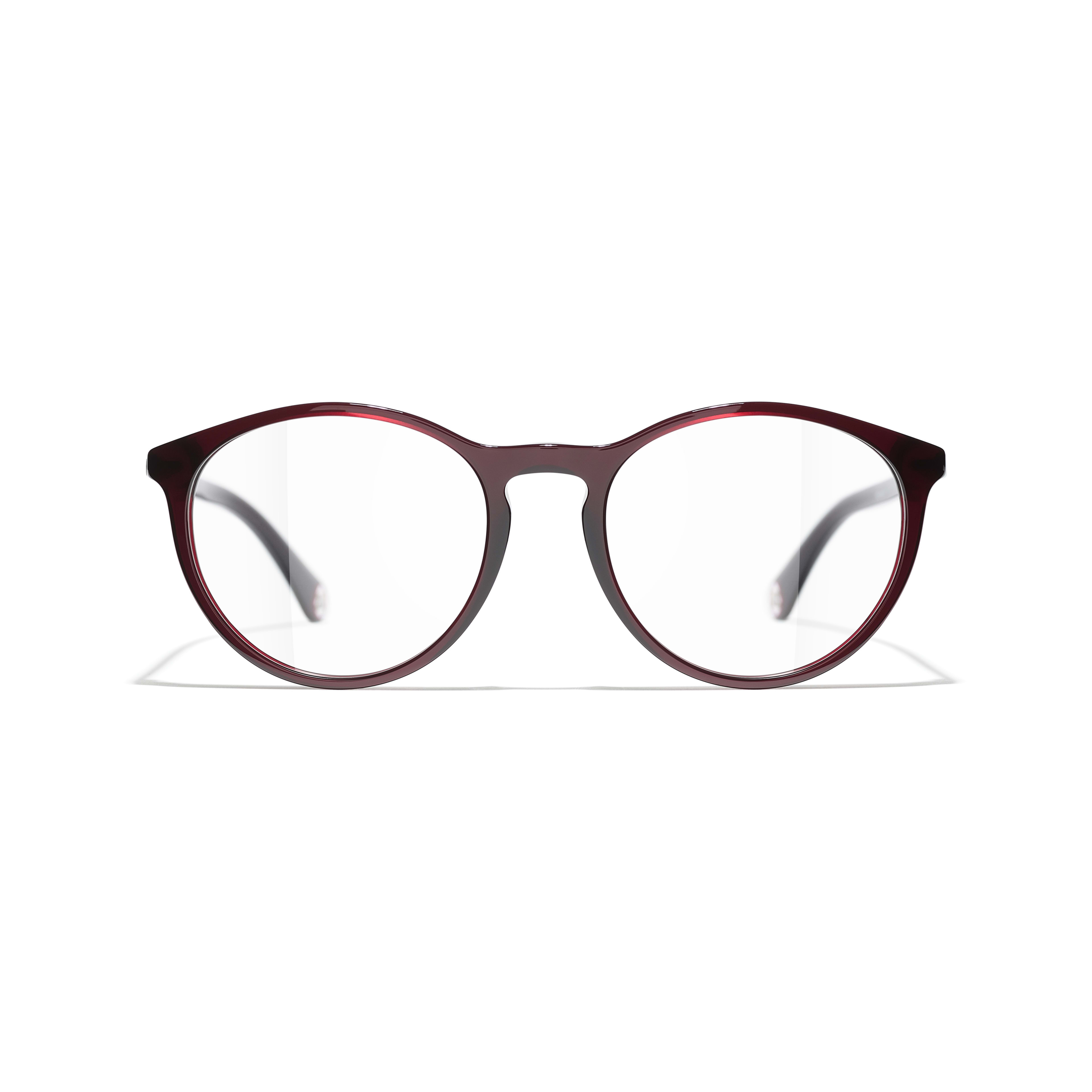 Pantos Eyeglasses - Dark Red - Acetate - CHANEL - Alternative view - see standard sized version