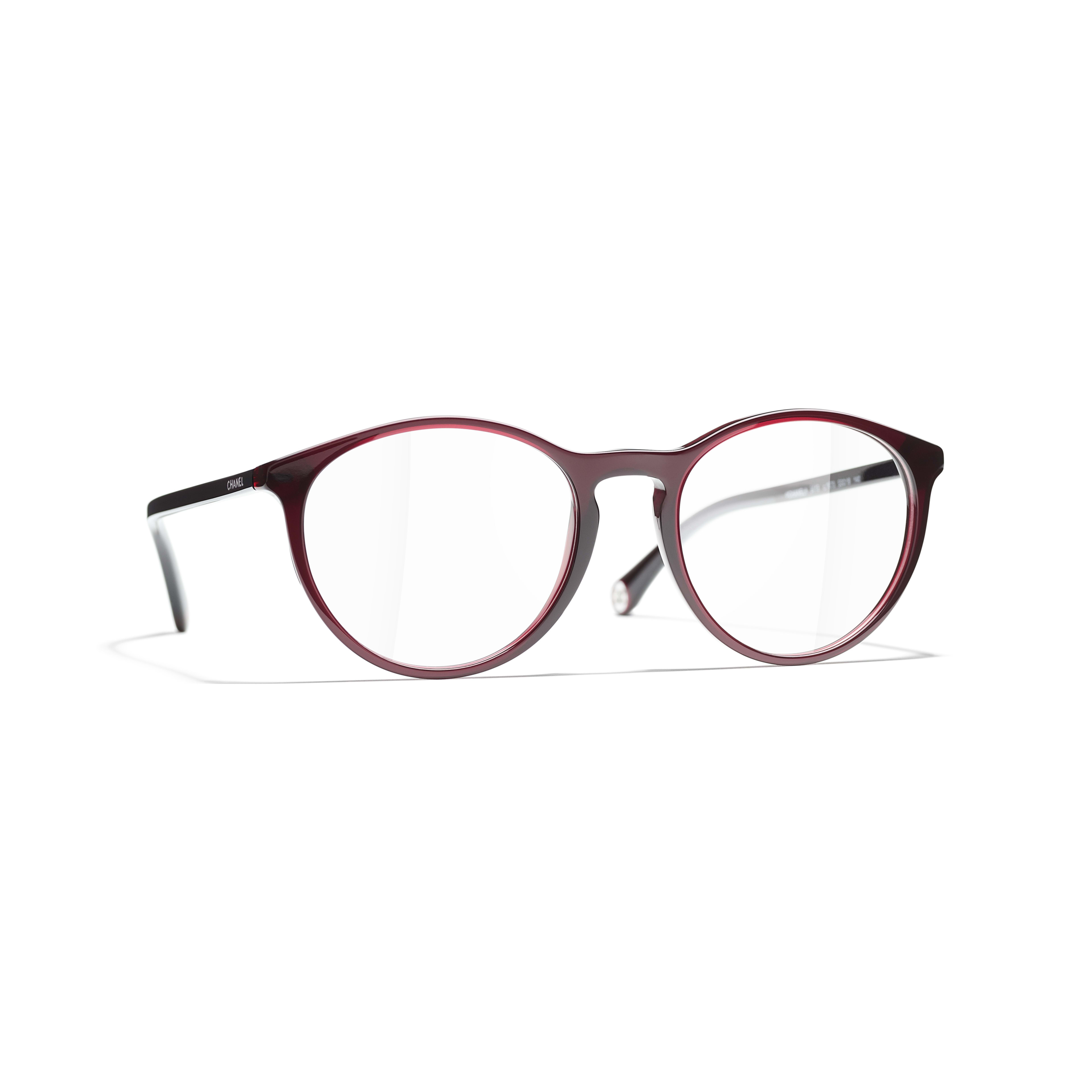 Pantos Eyeglasses - Dark Red - Acetate - CHANEL - Default view - see standard sized version