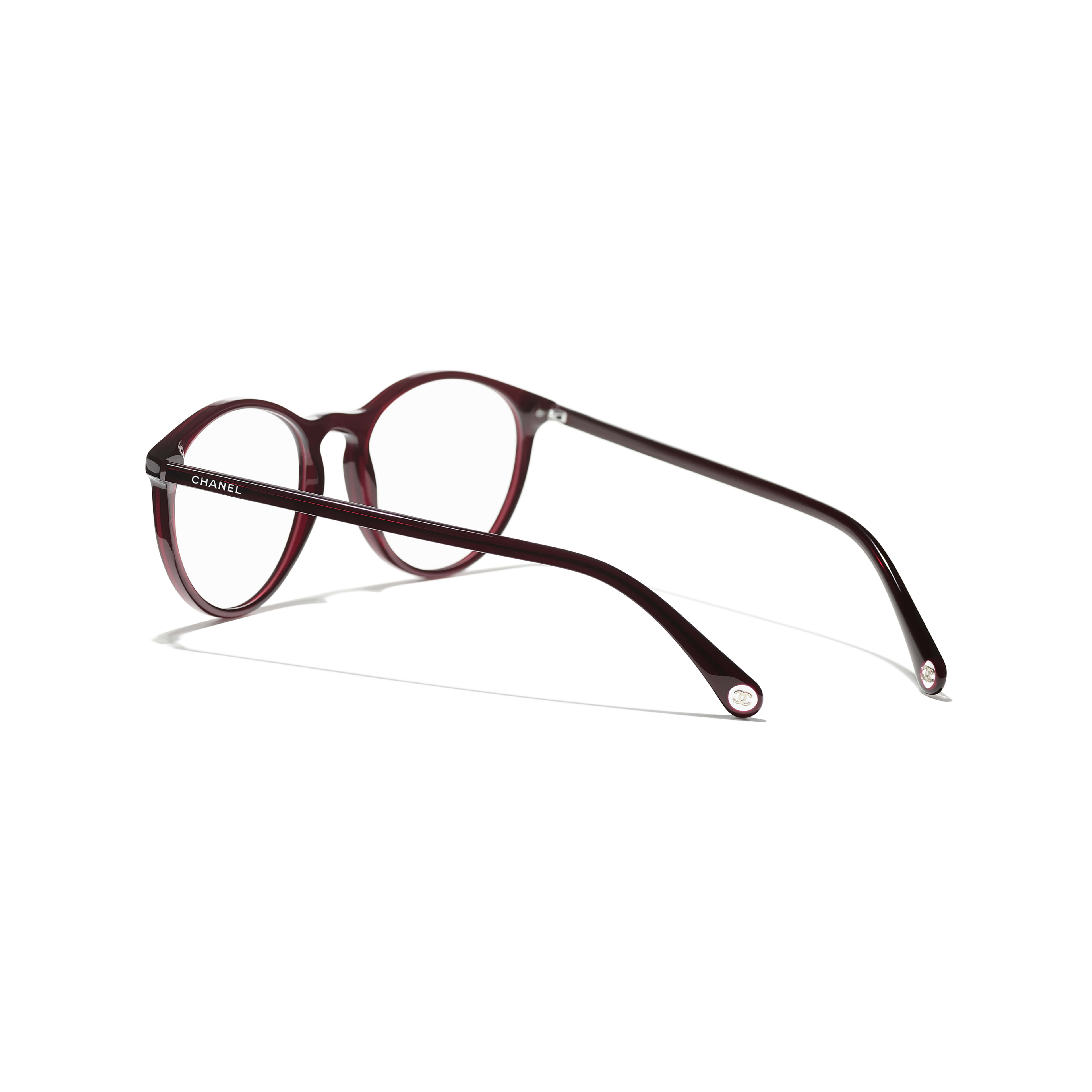 Pantos Eyeglasses - Dark Red - Acetate - CHANEL - Extra view - see standard sized version