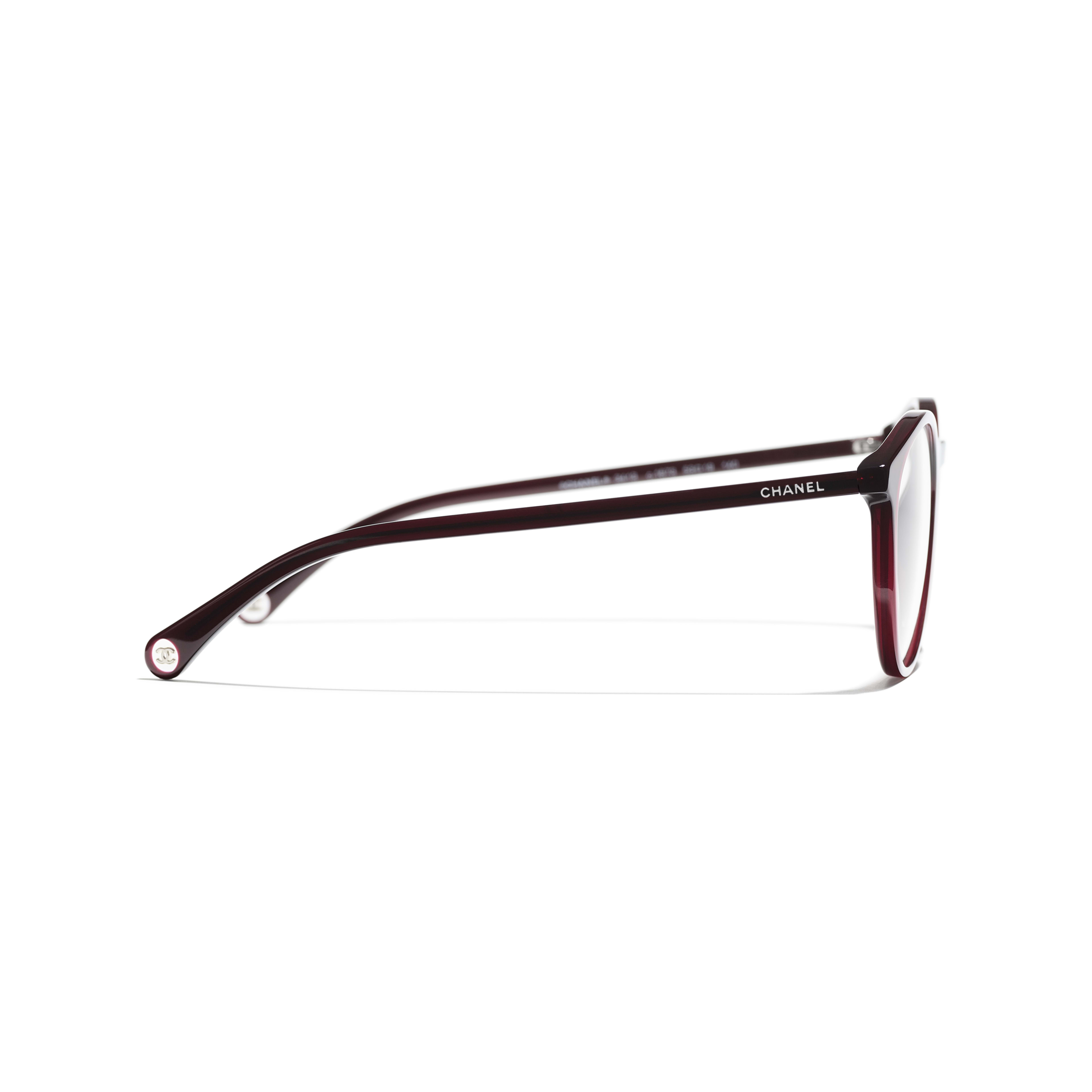 Pantos Eyeglasses - Dark Red - Acetate - CHANEL - Other view - see standard sized version