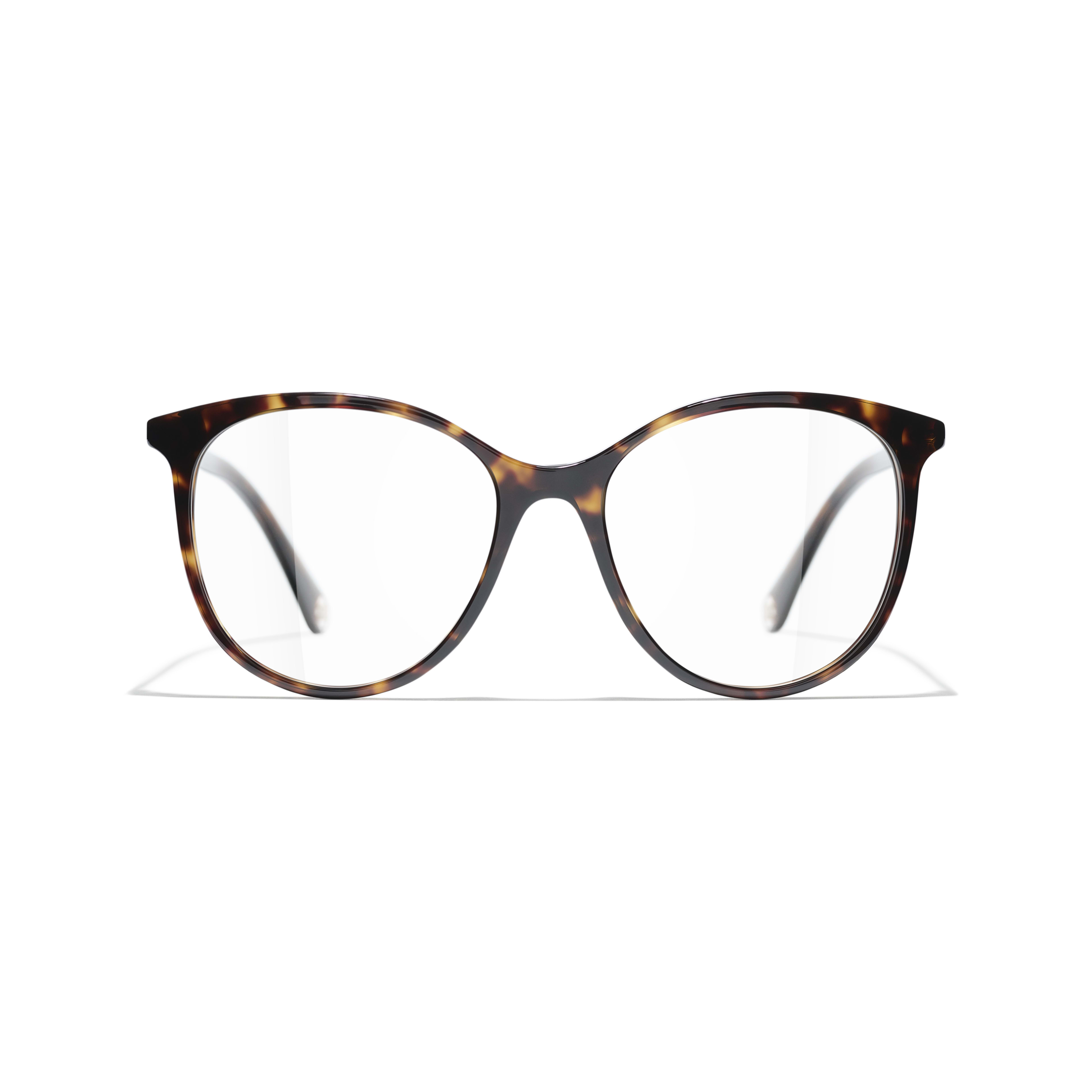 Pantos Eyeglasses - Dark Tortoise - Acetate - CHANEL - Alternative view - see standard sized version