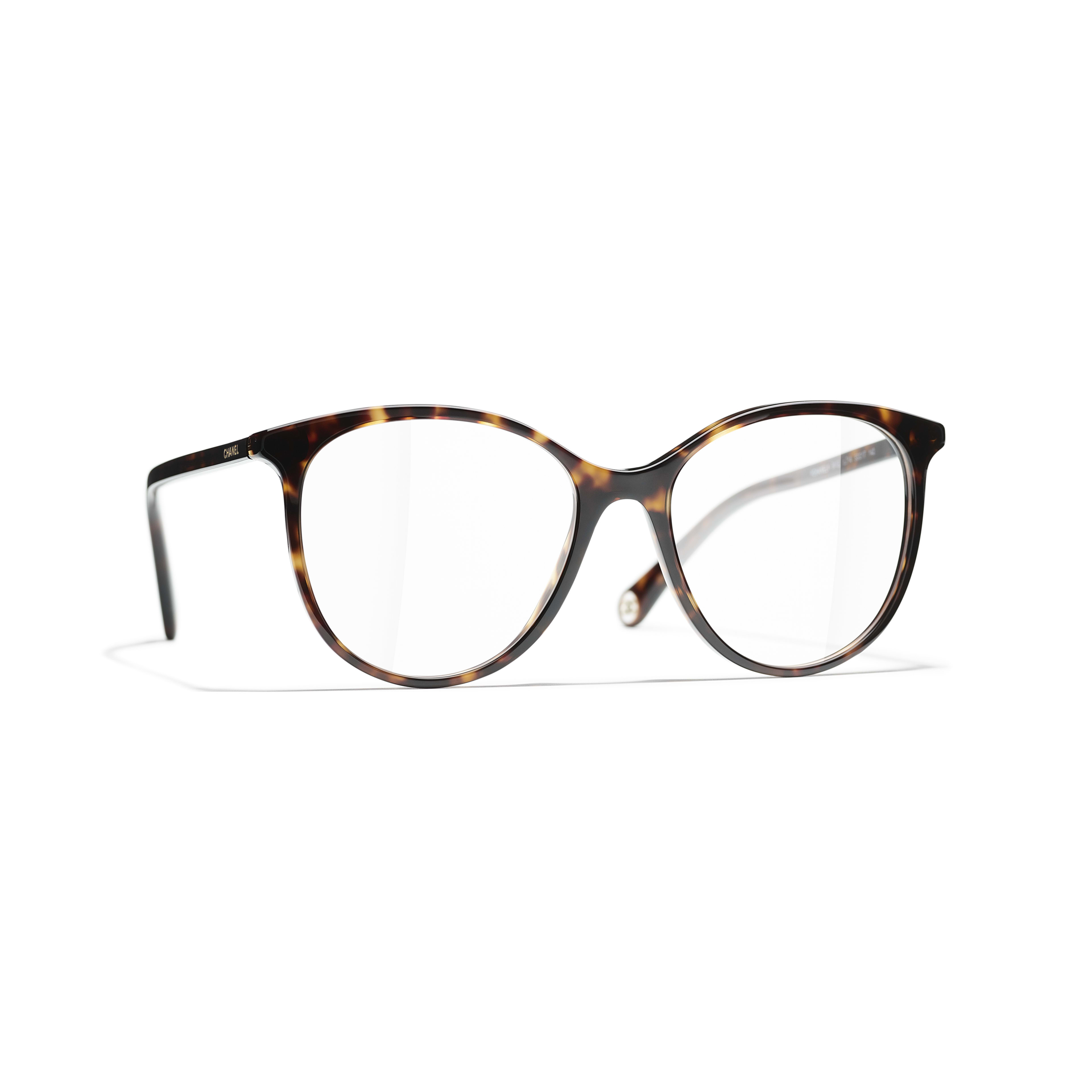 Pantos Eyeglasses - Dark Tortoise - Acetate - CHANEL - Default view - see standard sized version