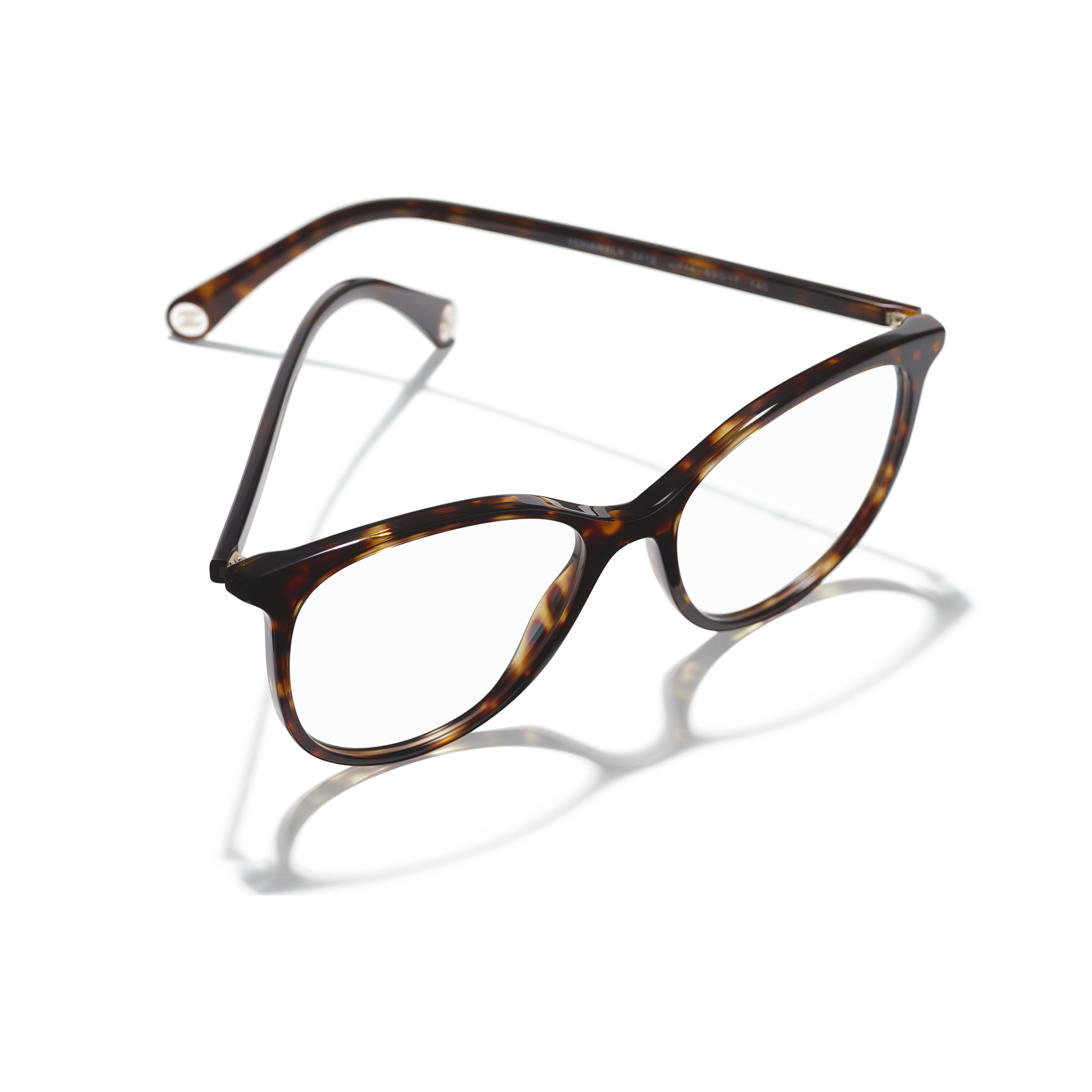 Pantos Eyeglasses - Dark Tortoise - Acetate - CHANEL - Extra view - see standard sized version