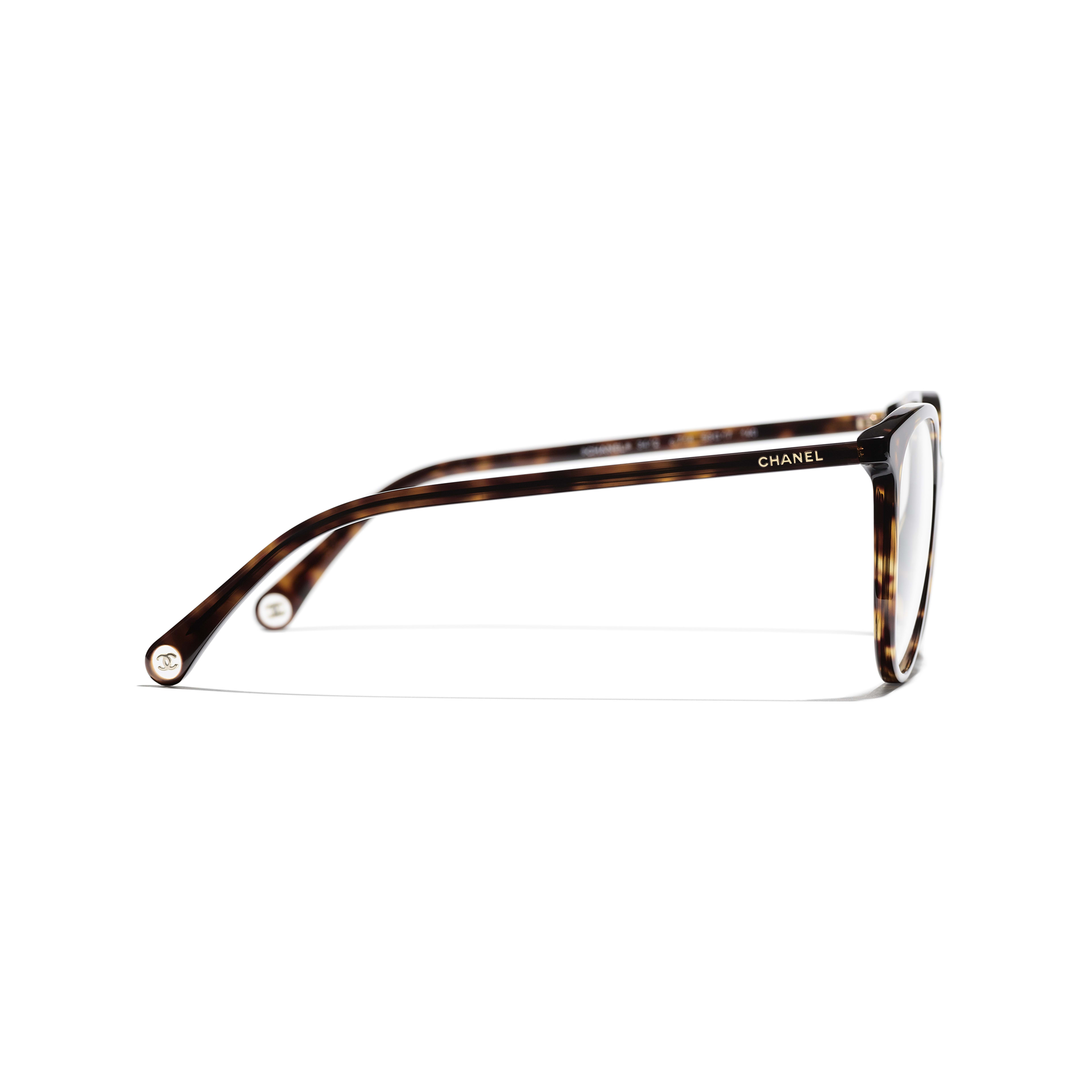 Pantos Eyeglasses - Dark Tortoise - Acetate - CHANEL - Other view - see standard sized version