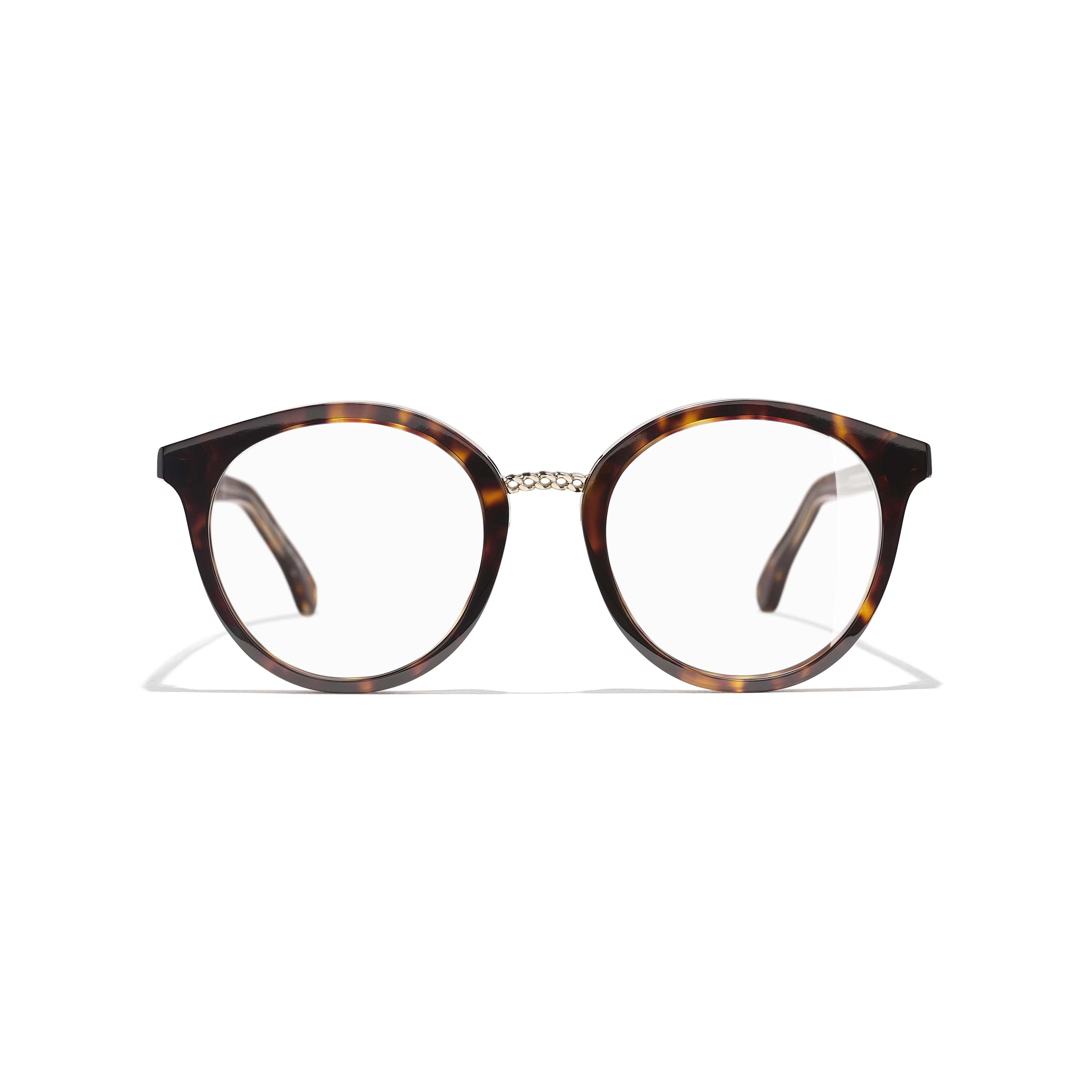 Pantos Eyeglasses - Dark Tortoise - Acetate & Metal - Alternative view - see standard sized version