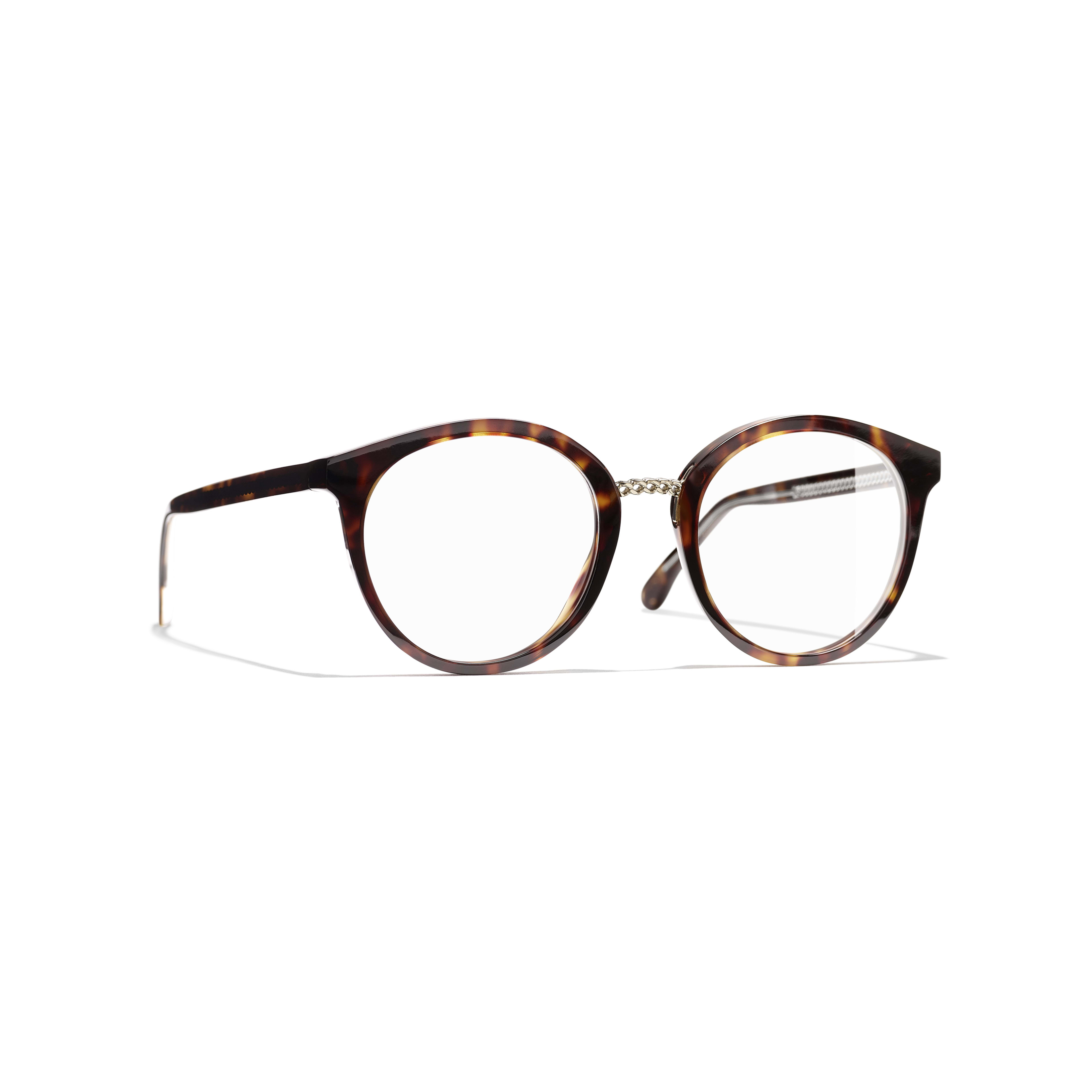 Pantos Eyeglasses - Dark Tortoise - Acetate & Metal - Default view - see standard sized version