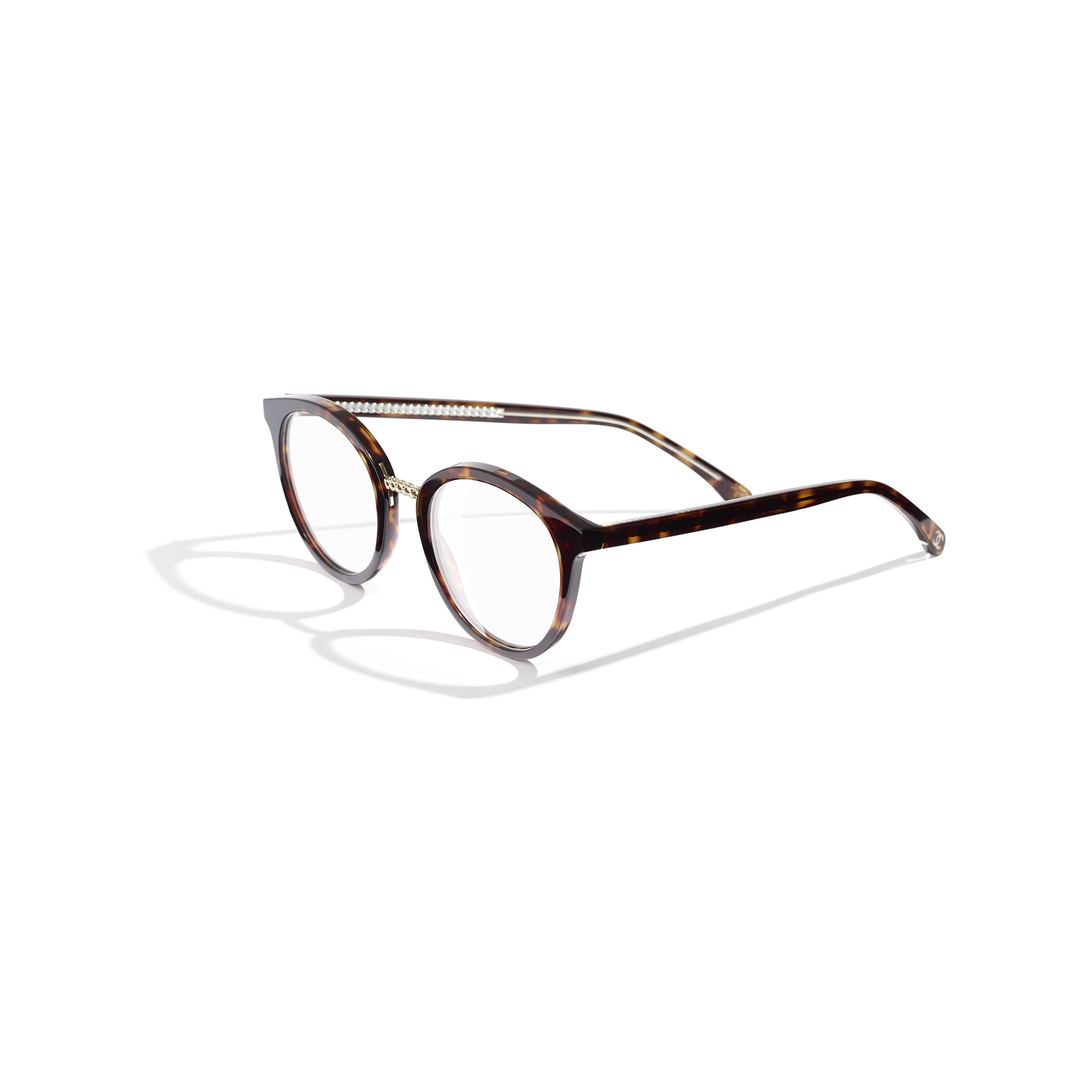 Pantos Eyeglasses - Dark Tortoise - Acetate & Metal - Extra view - see standard sized version