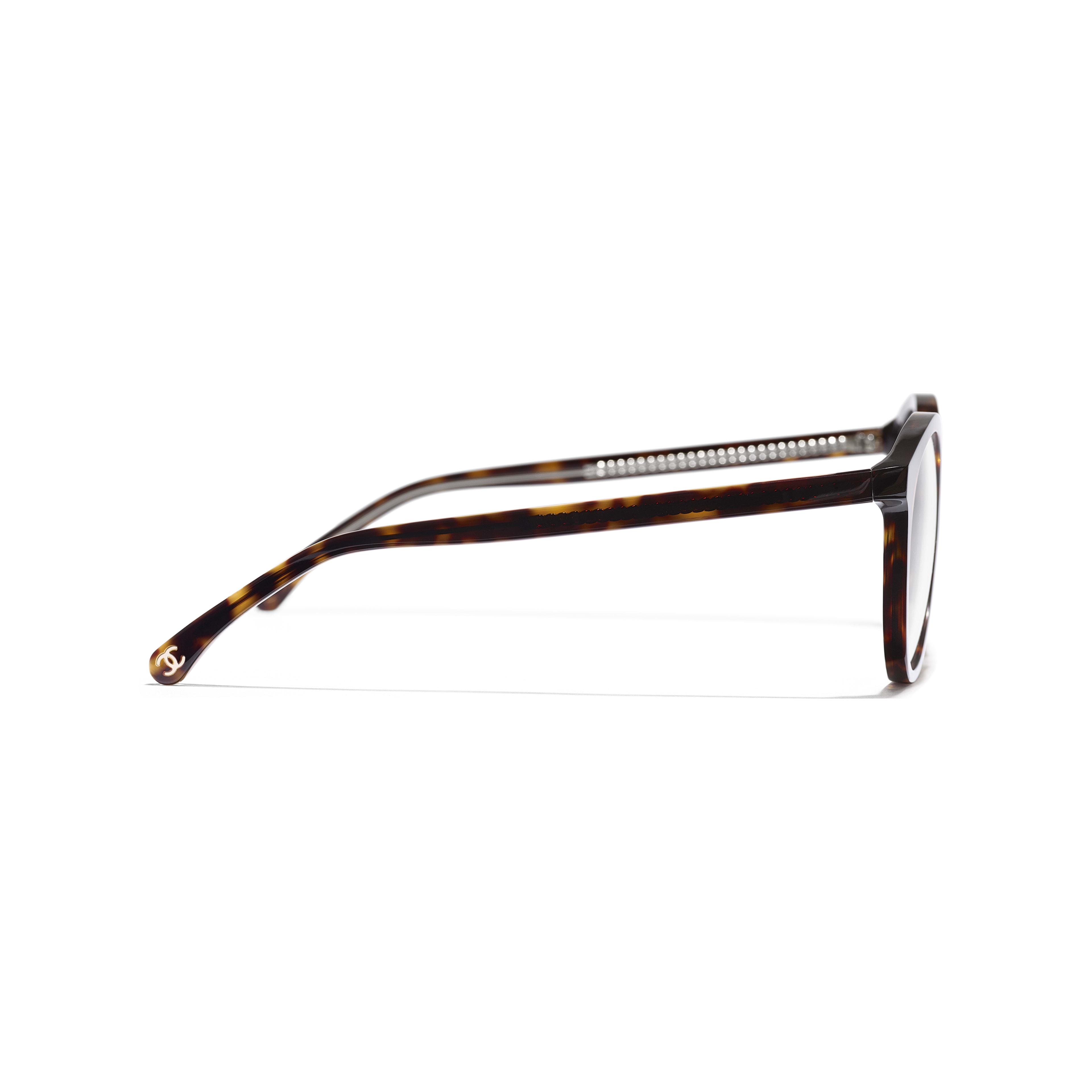 Pantos Eyeglasses - Dark Tortoise - Acetate & Metal - Other view - see standard sized version
