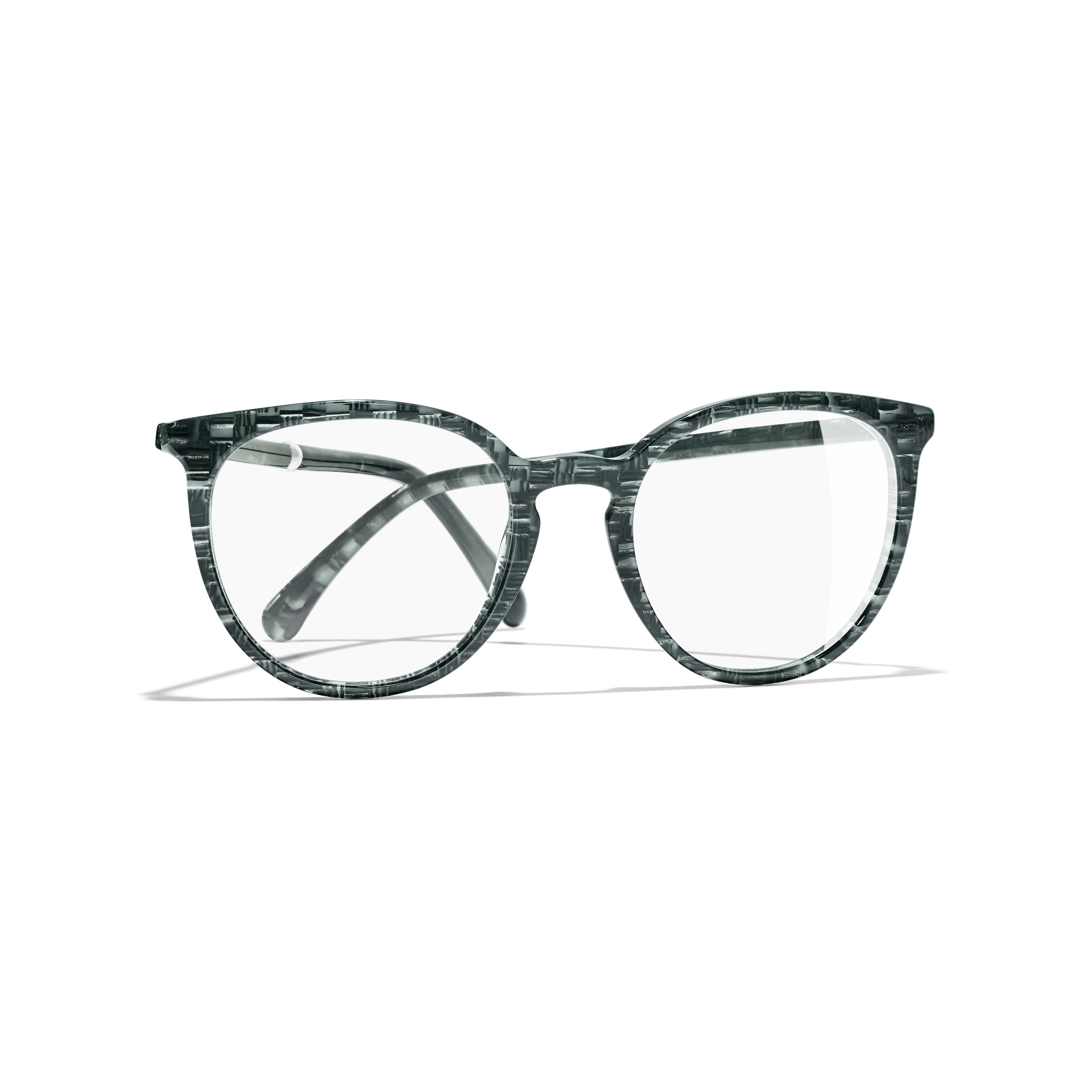 Pantos Eyeglasses - Glittered Green - Acetate & Imitation Pearls - Extra view - see standard sized version