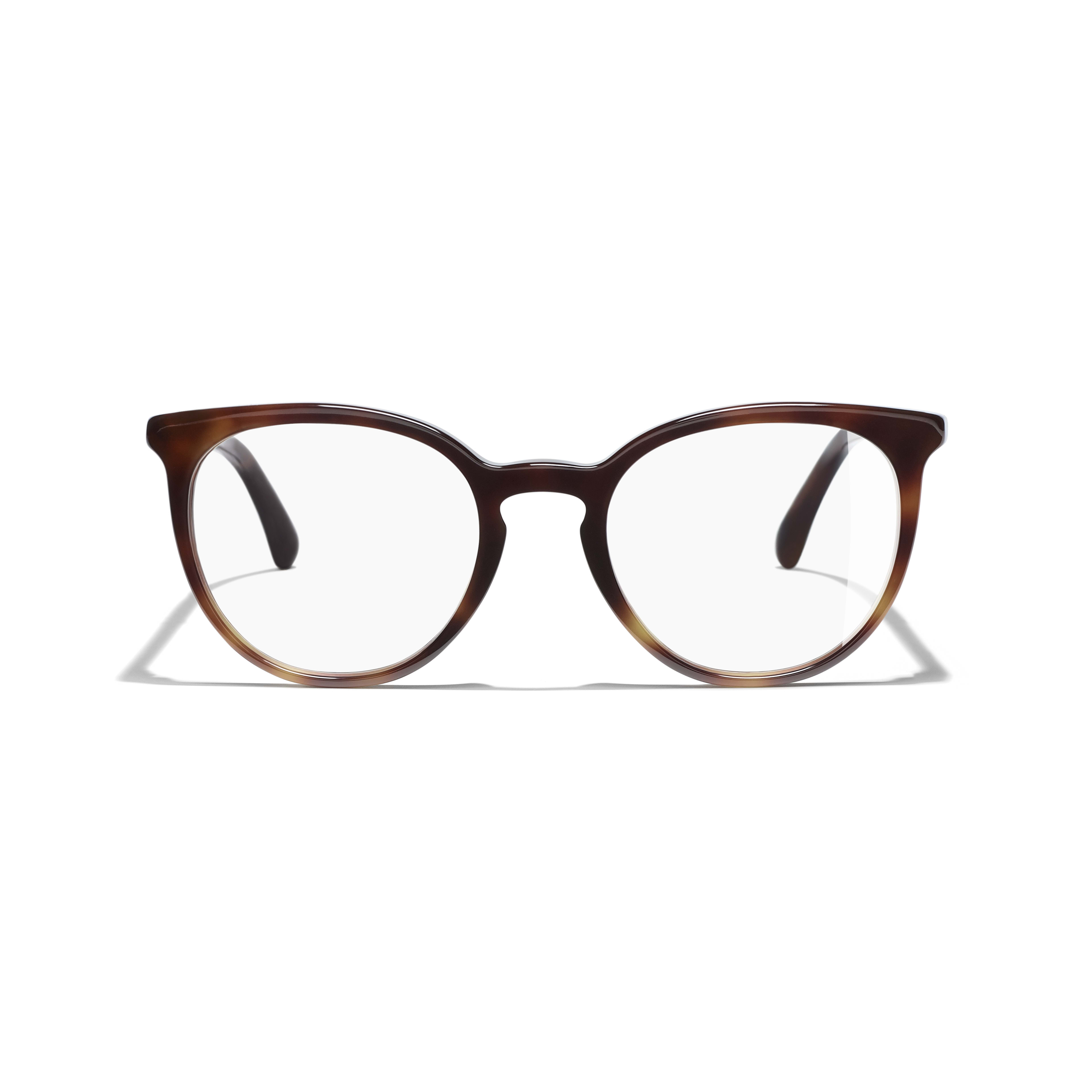 Pantos Eyeglasses - Light Tortoise - Acetate & Imitation Pearls - CHANEL - Alternative view - see standard sized version