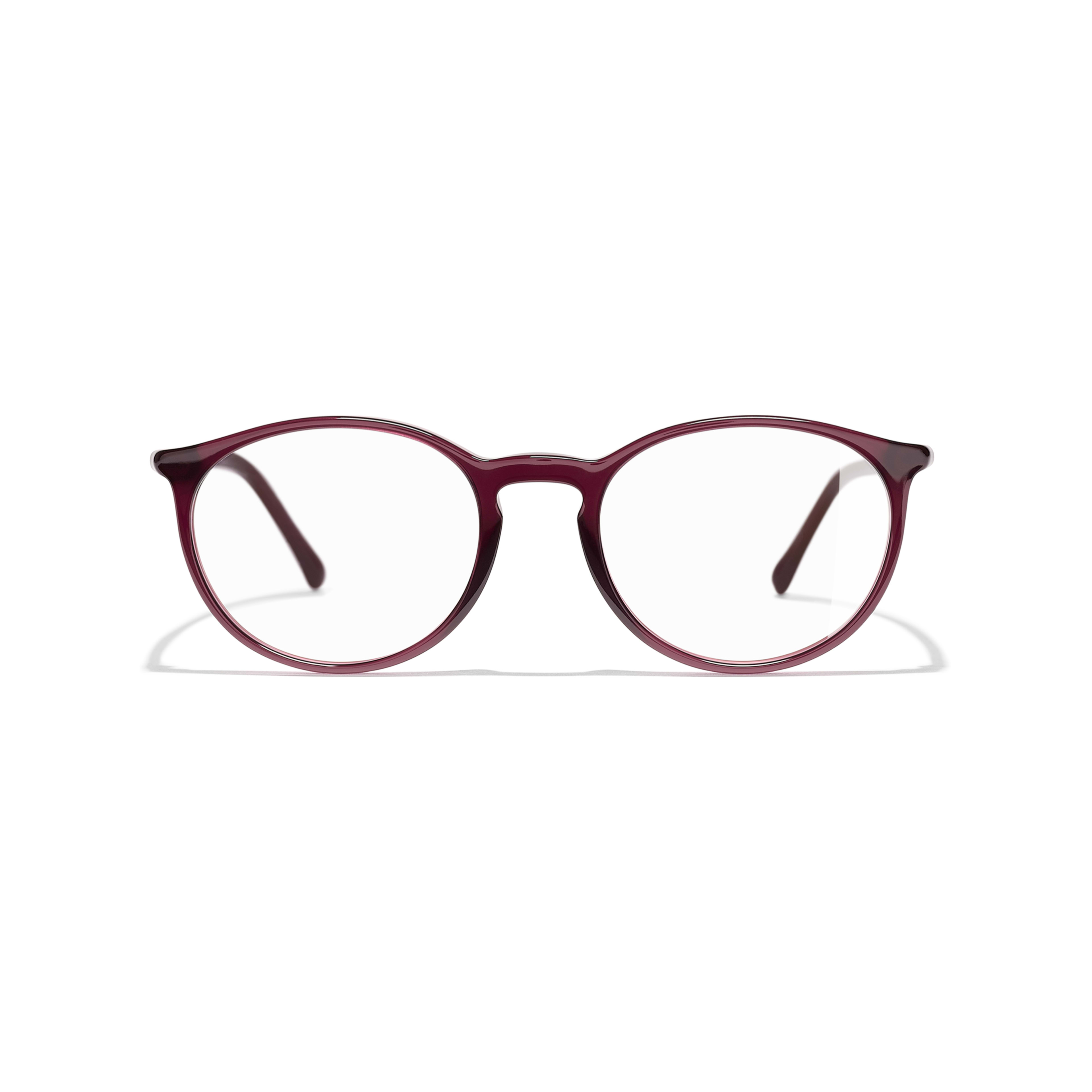 Pantos Eyeglasses - Red - Acetate - CHANEL - Alternative view - see standard sized version