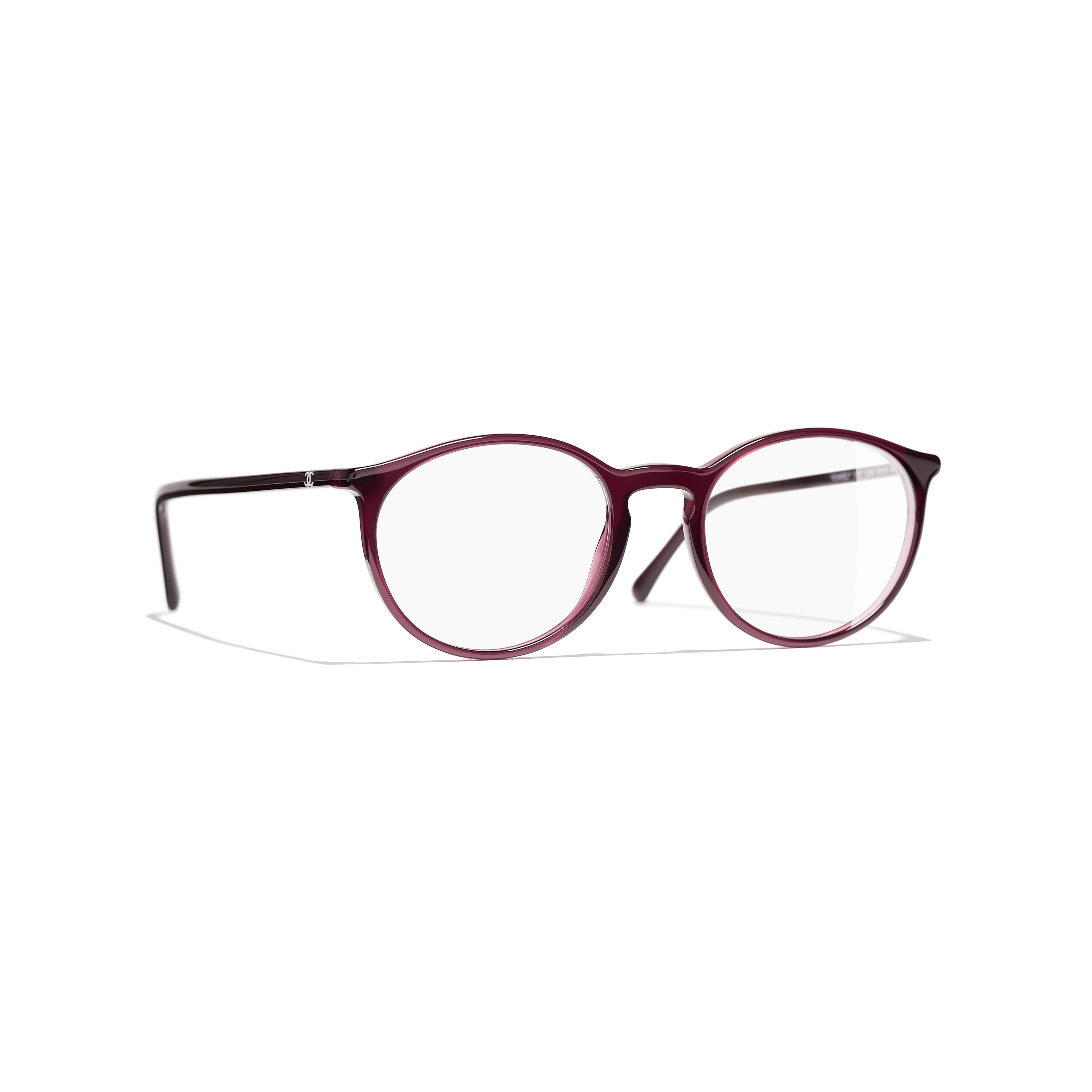 Pantos Eyeglasses - Red - Acetate - CHANEL - Default view - see standard sized version