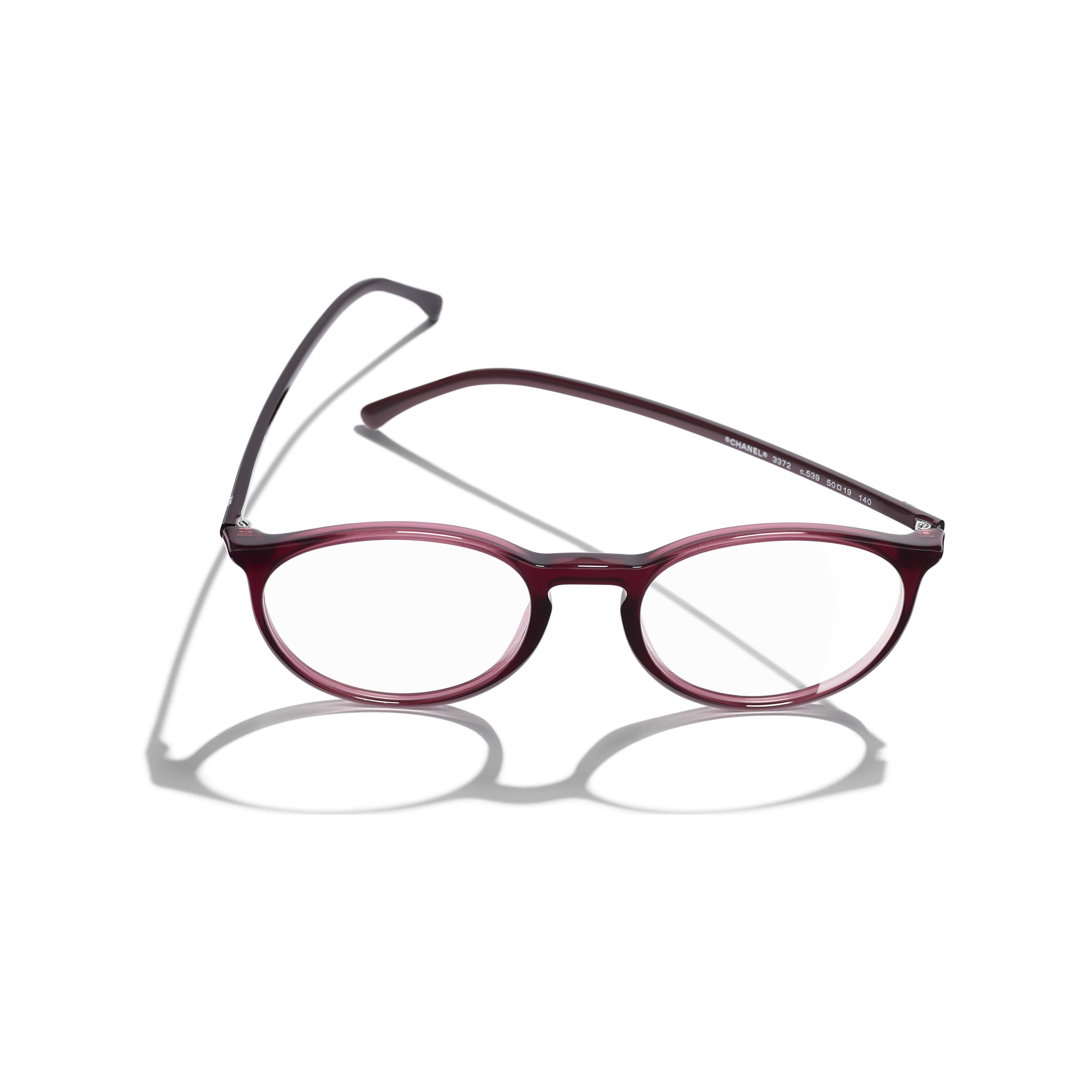 Pantos Eyeglasses - Red - Acetate - CHANEL - Extra view - see standard sized version