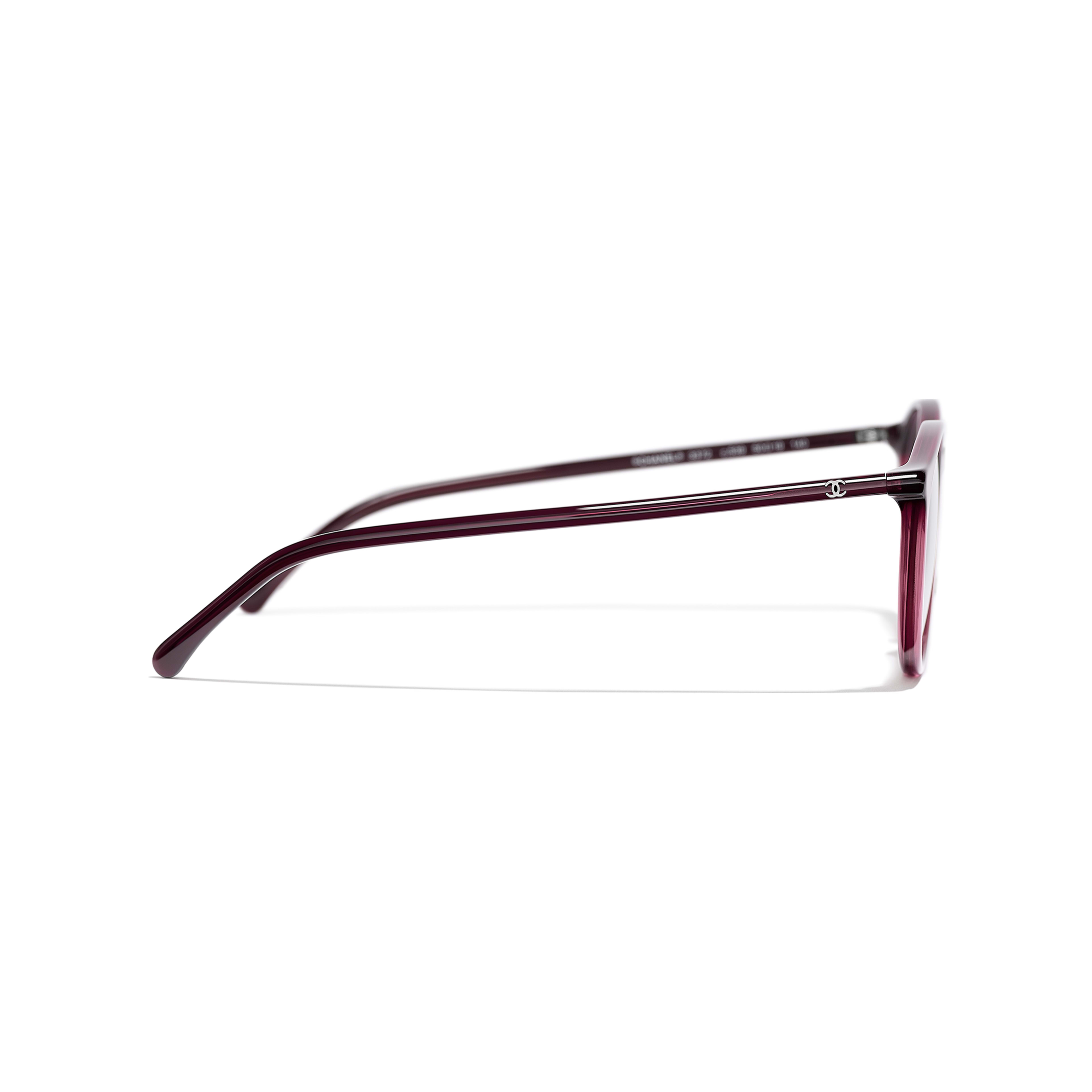 Pantos Eyeglasses - Red - Acetate - CHANEL - Other view - see standard sized version