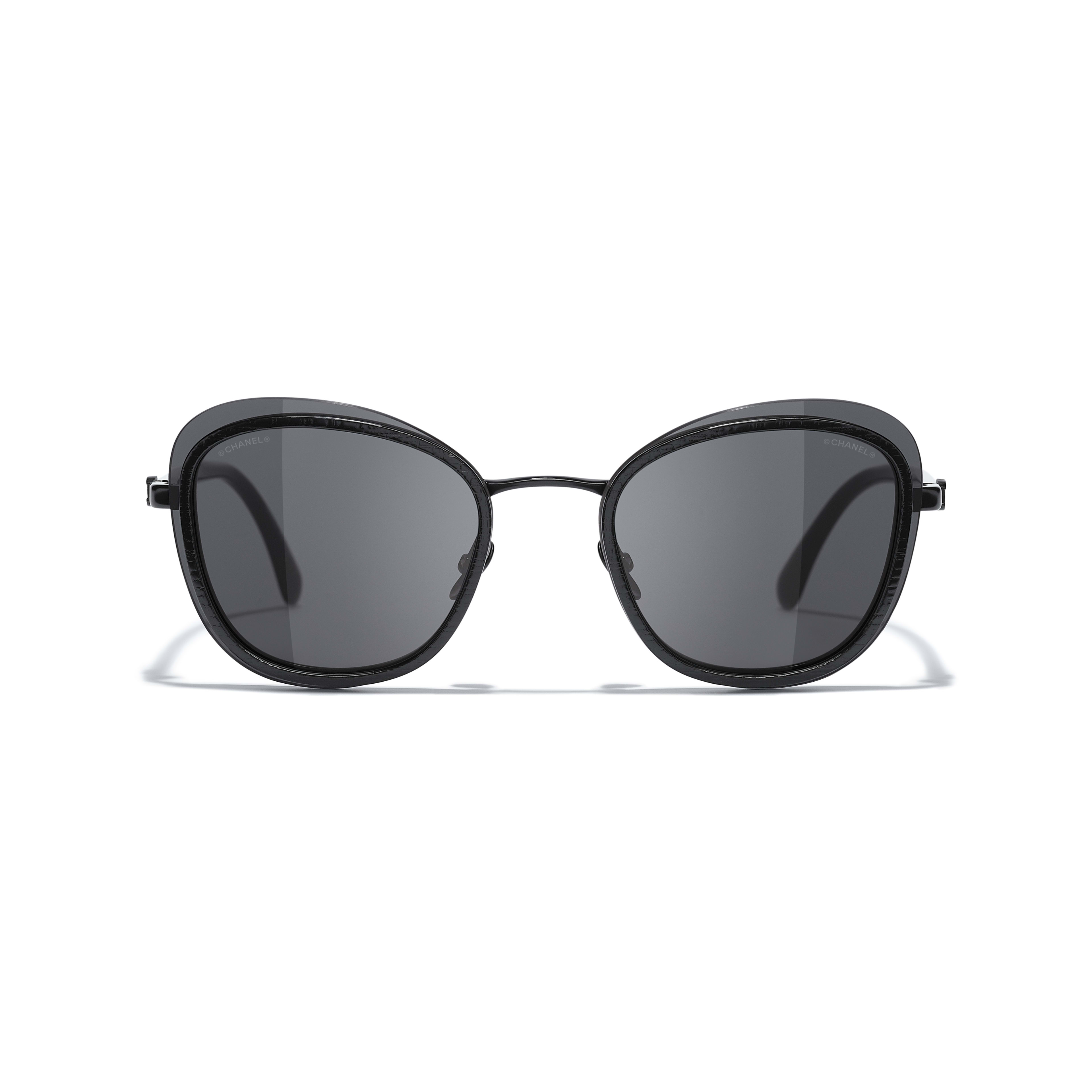 Pantos Sunglasses - Black - Acetate & Metal - CHANEL - Alternative view - see standard sized version
