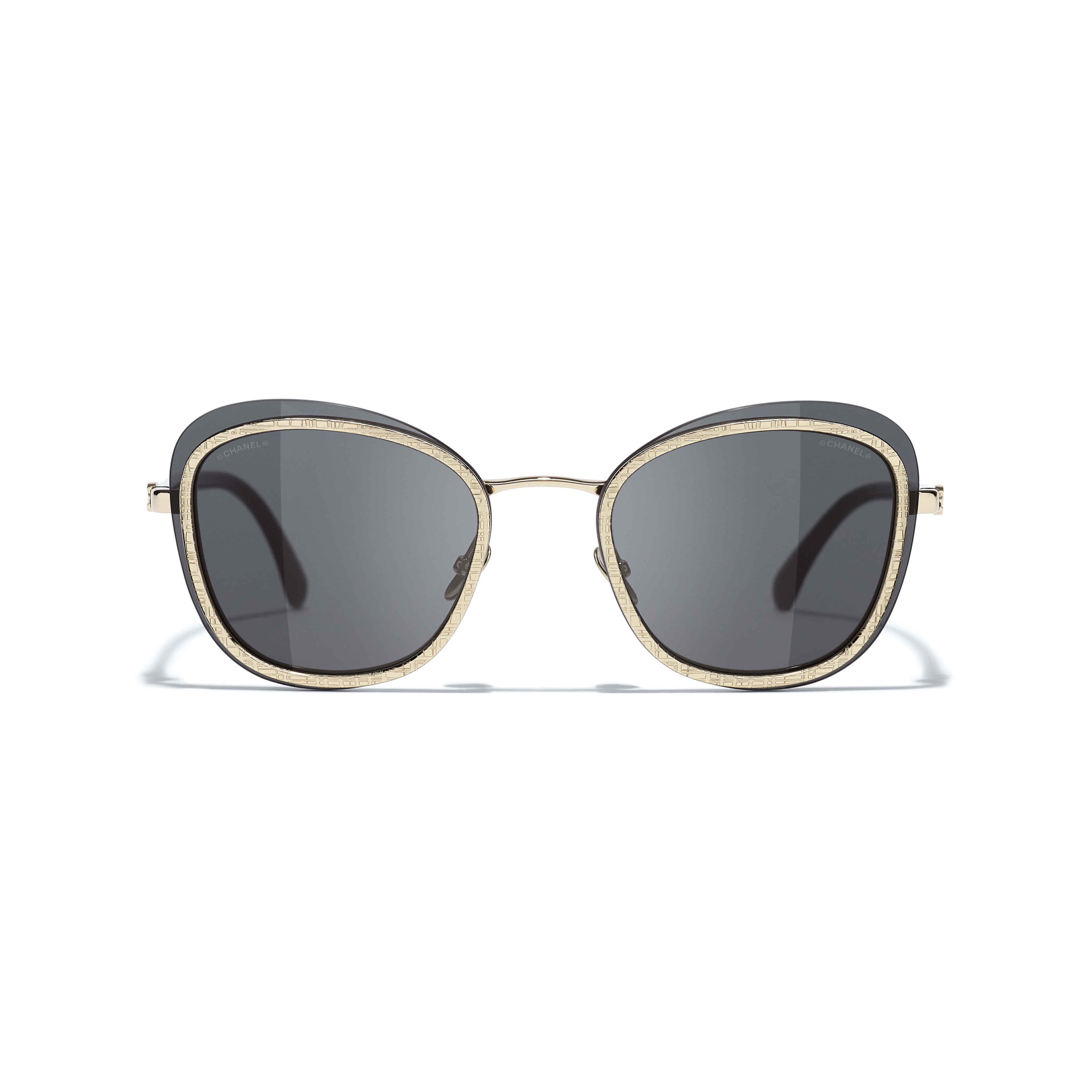 Pantos Sunglasses - Black & Gold - Acetate & Metal - CHANEL - Alternative view - see standard sized version