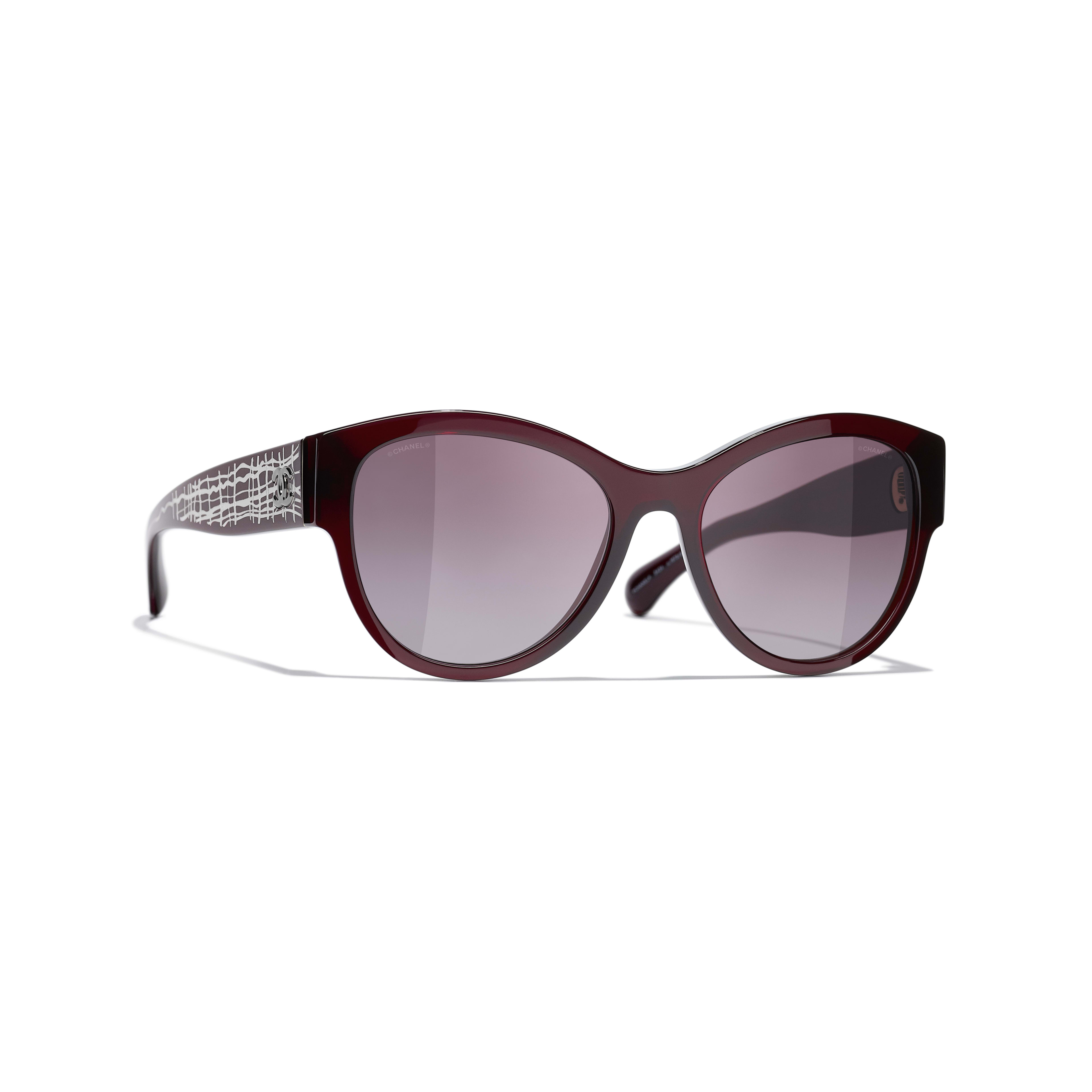 Pantos Sunglasses - Dark Red - Acetate & Metal - CHANEL - Default view - see standard sized version