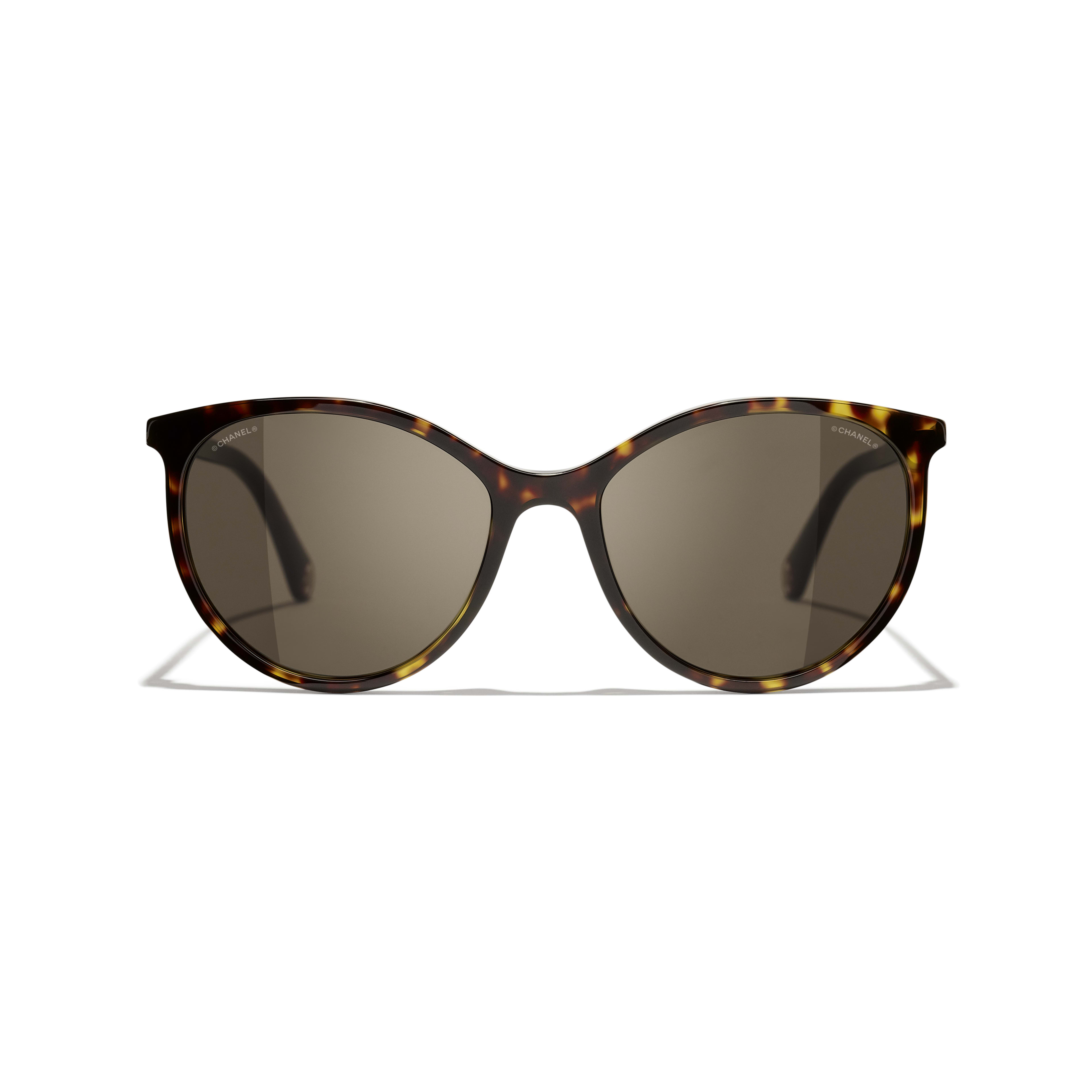 Pantos Sunglasses - Dark Tortoise - Acetate - CHANEL - Alternative view - see standard sized version
