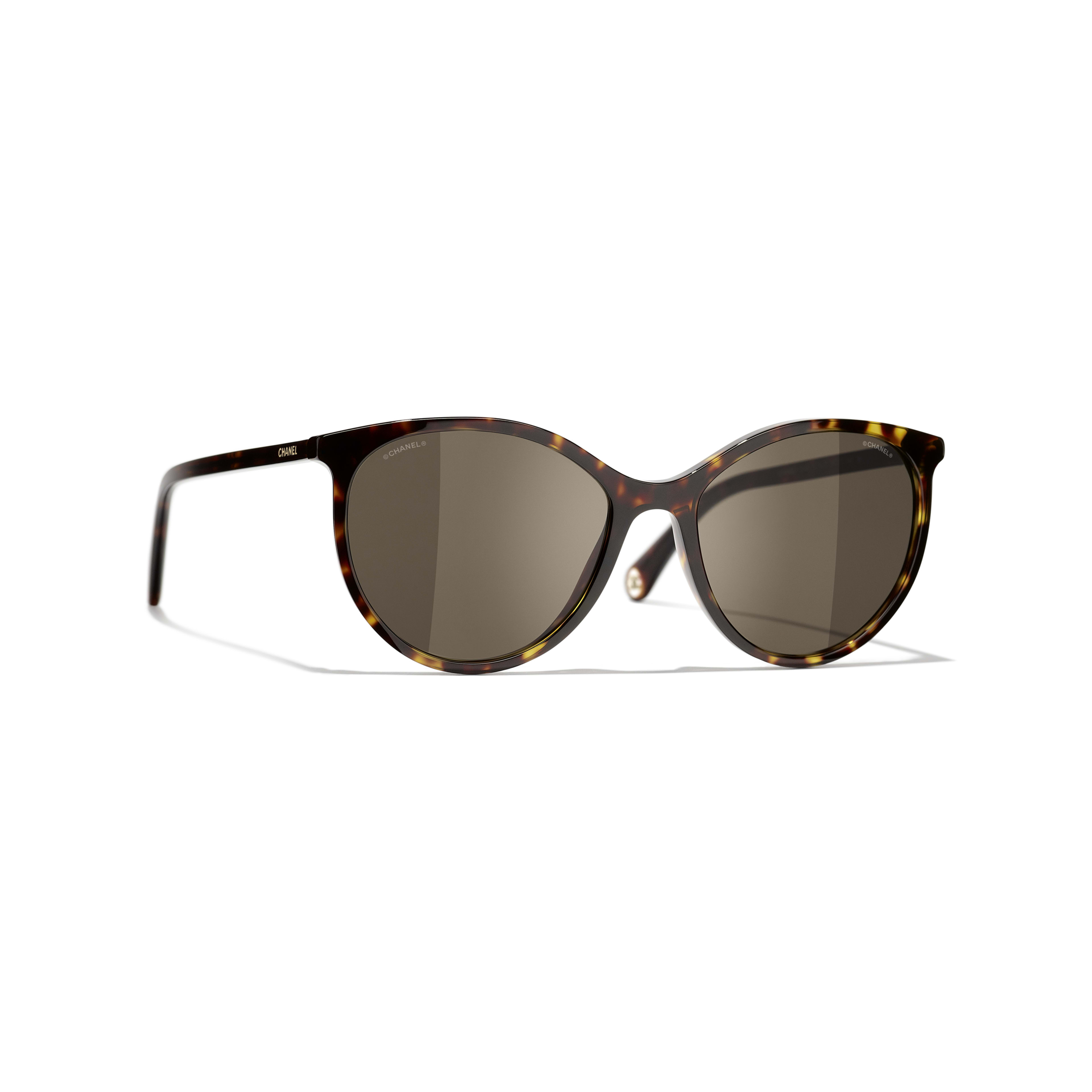 Pantos Sunglasses - Dark Tortoise - Acetate - CHANEL - Default view - see standard sized version