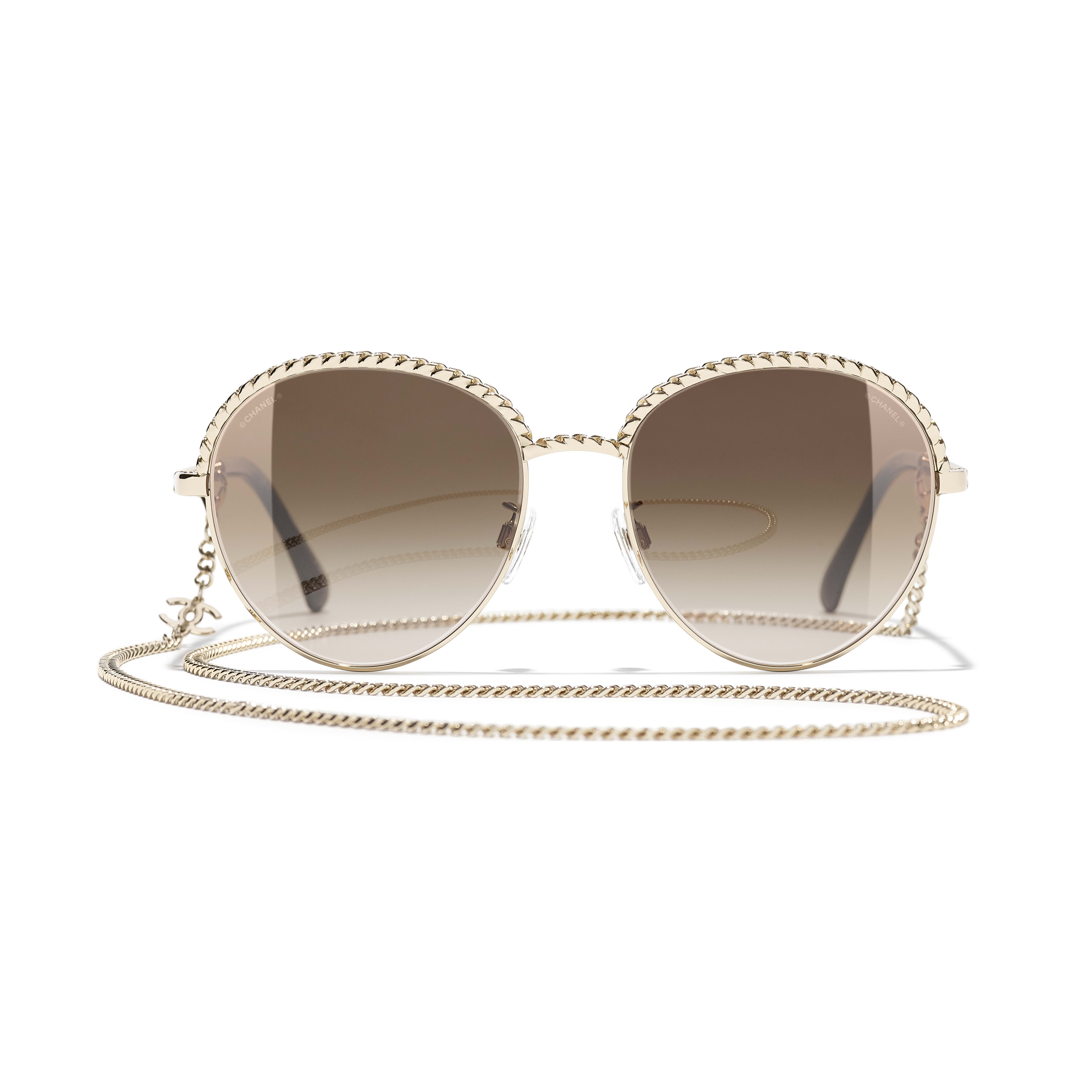 Pantos Sunglasses - Gold - Metal - CHANEL - Alternative view - see standard sized version
