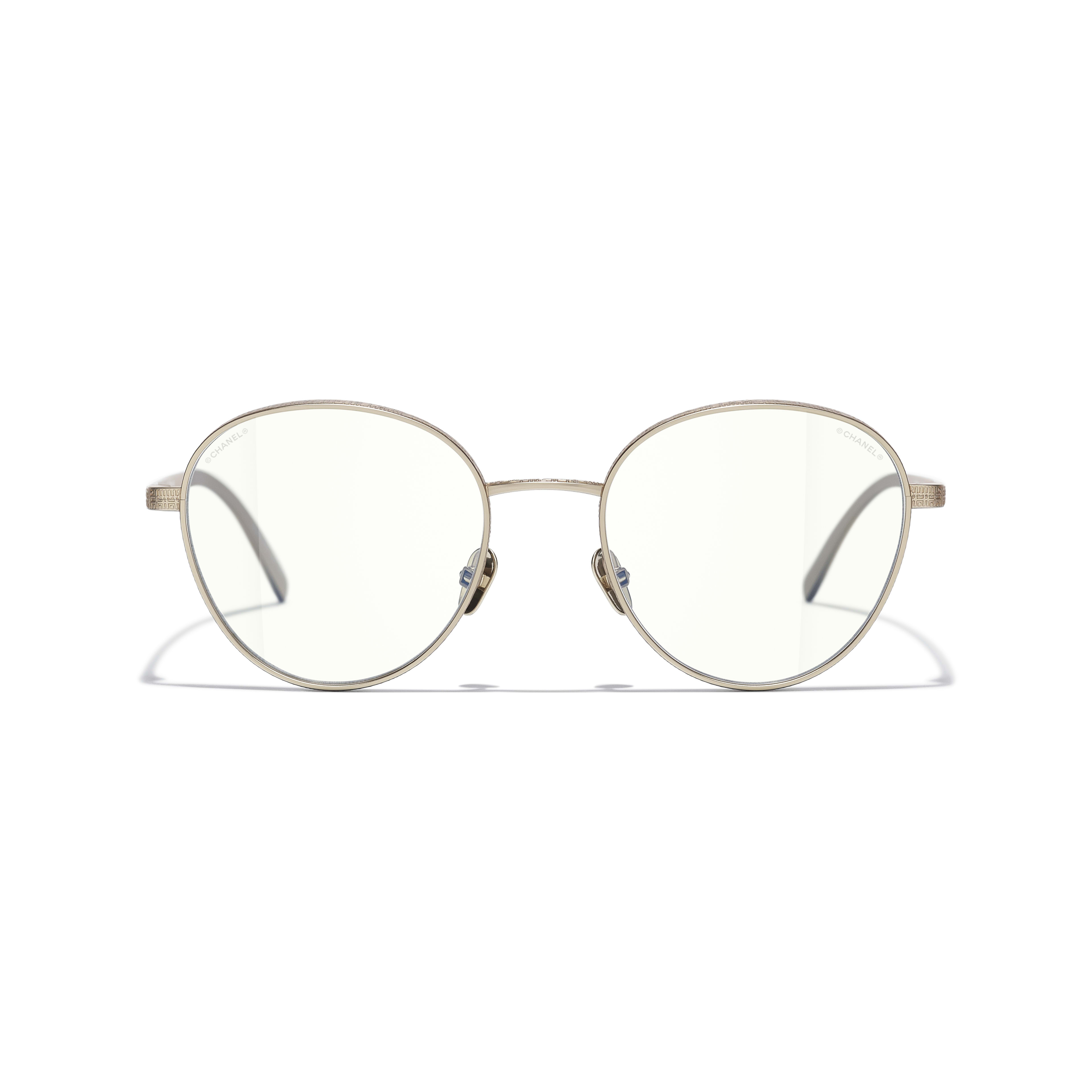 Pantos Sunglasses - Gold - Titanium - CHANEL - Alternative view - see standard sized version