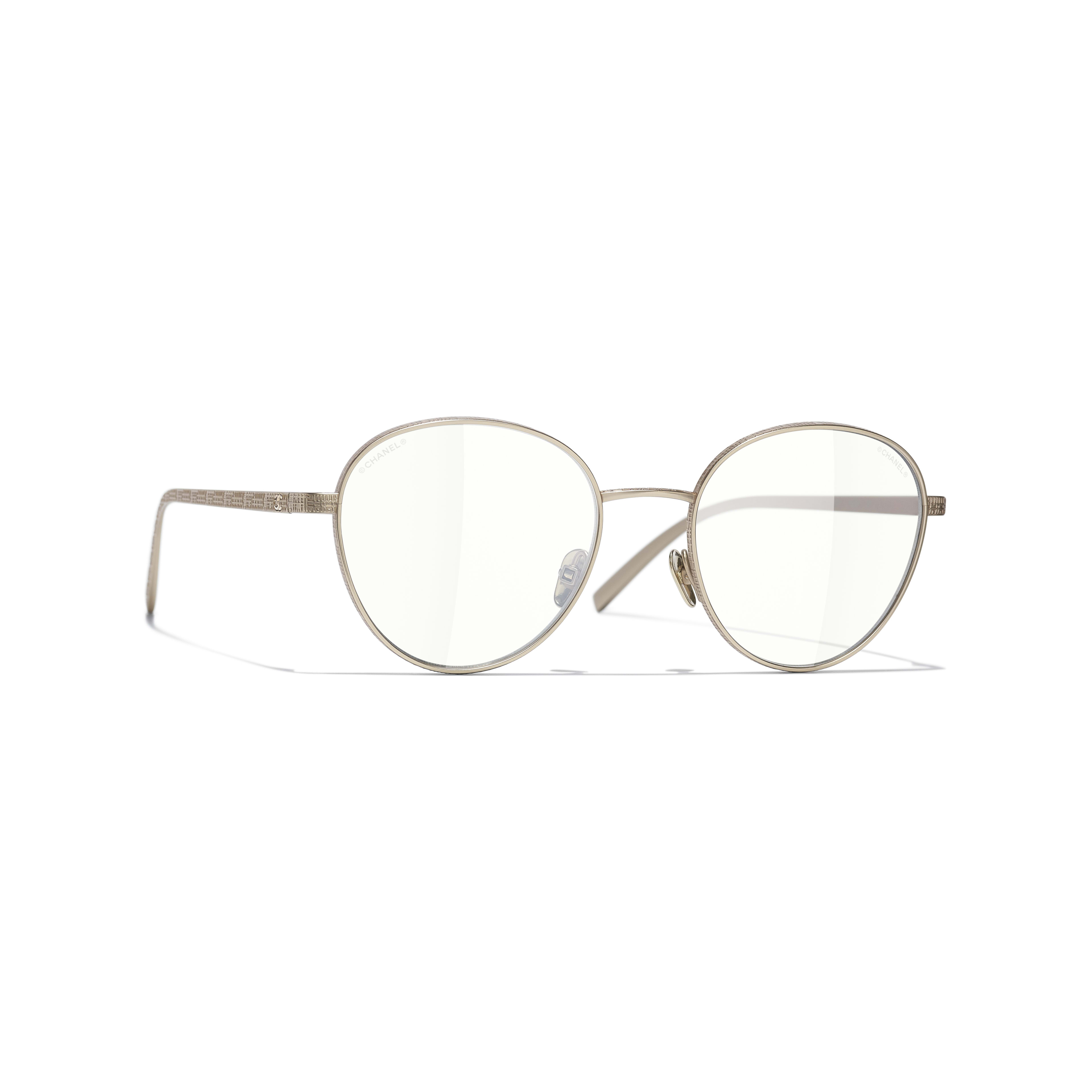 Pantos Sunglasses - Gold - Titanium - CHANEL - Default view - see standard sized version