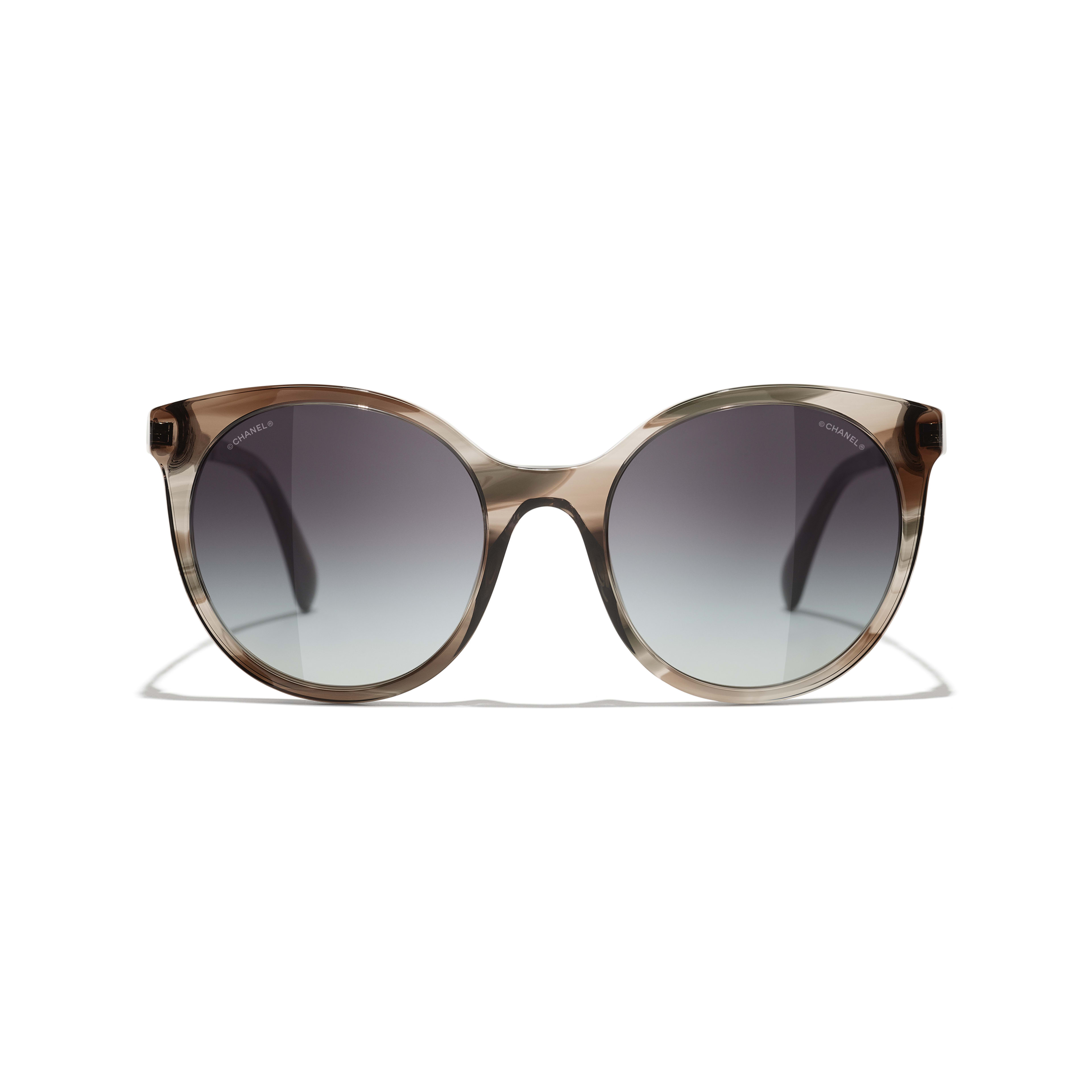 Pantos Sunglasses - Grey - Acetate & Metal - CHANEL - Alternative view - see standard sized version