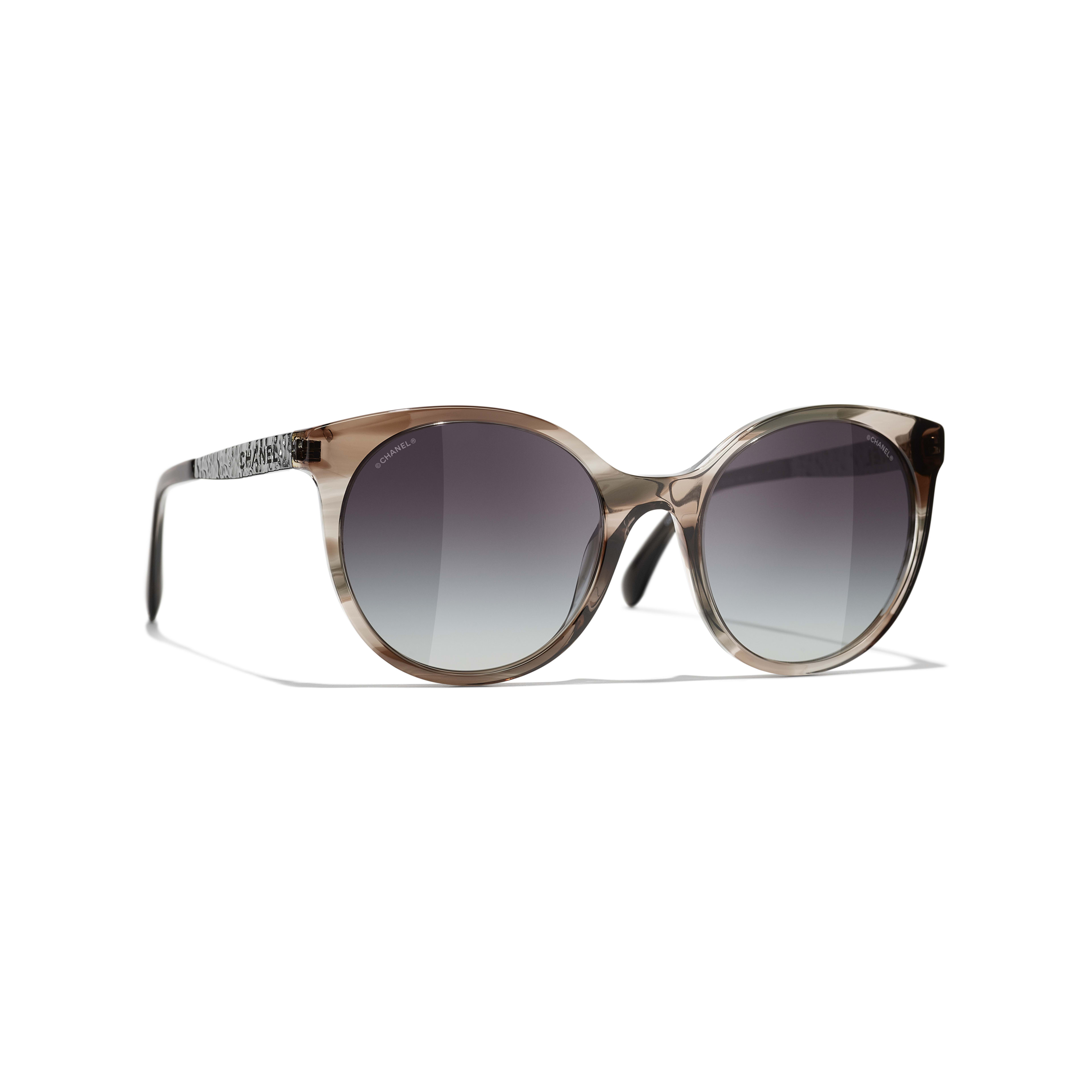 Pantos Sunglasses - Grey - Acetate & Metal - CHANEL - Default view - see standard sized version