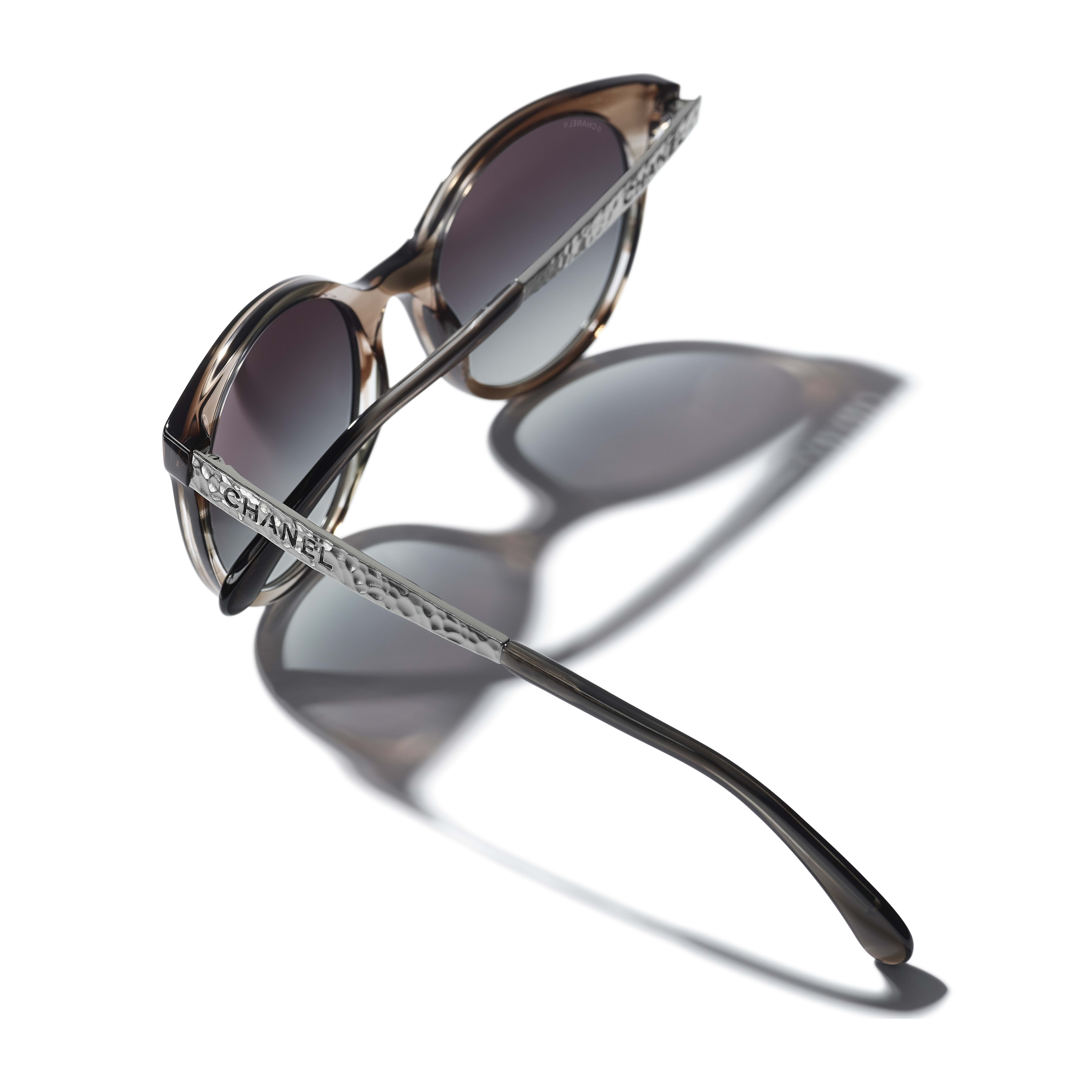 Pantos Sunglasses - Grey - Acetate & Metal - CHANEL - Extra view - see standard sized version