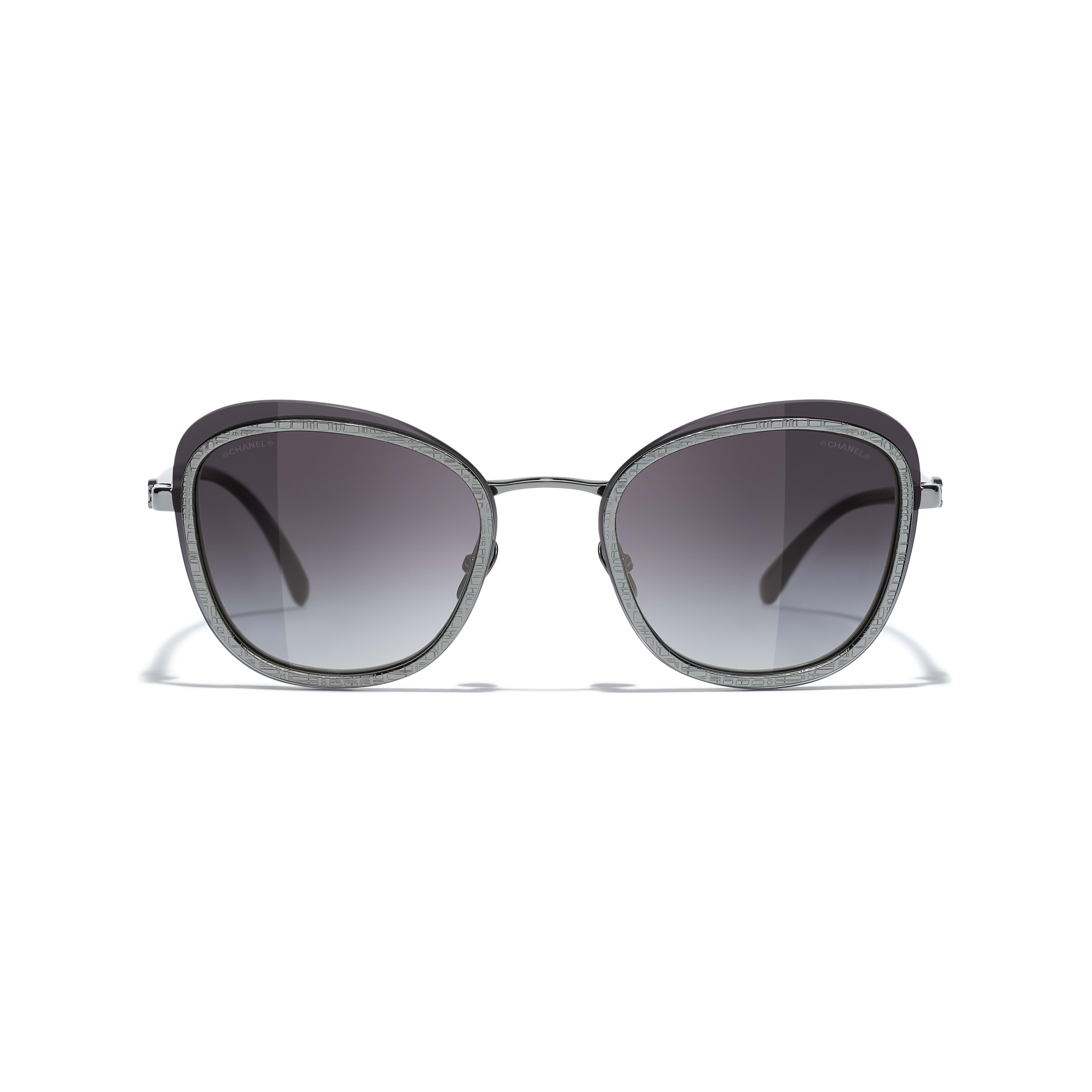 Pantos Sunglasses - Silver - Acetate & Metal - CHANEL - Alternative view - see standard sized version