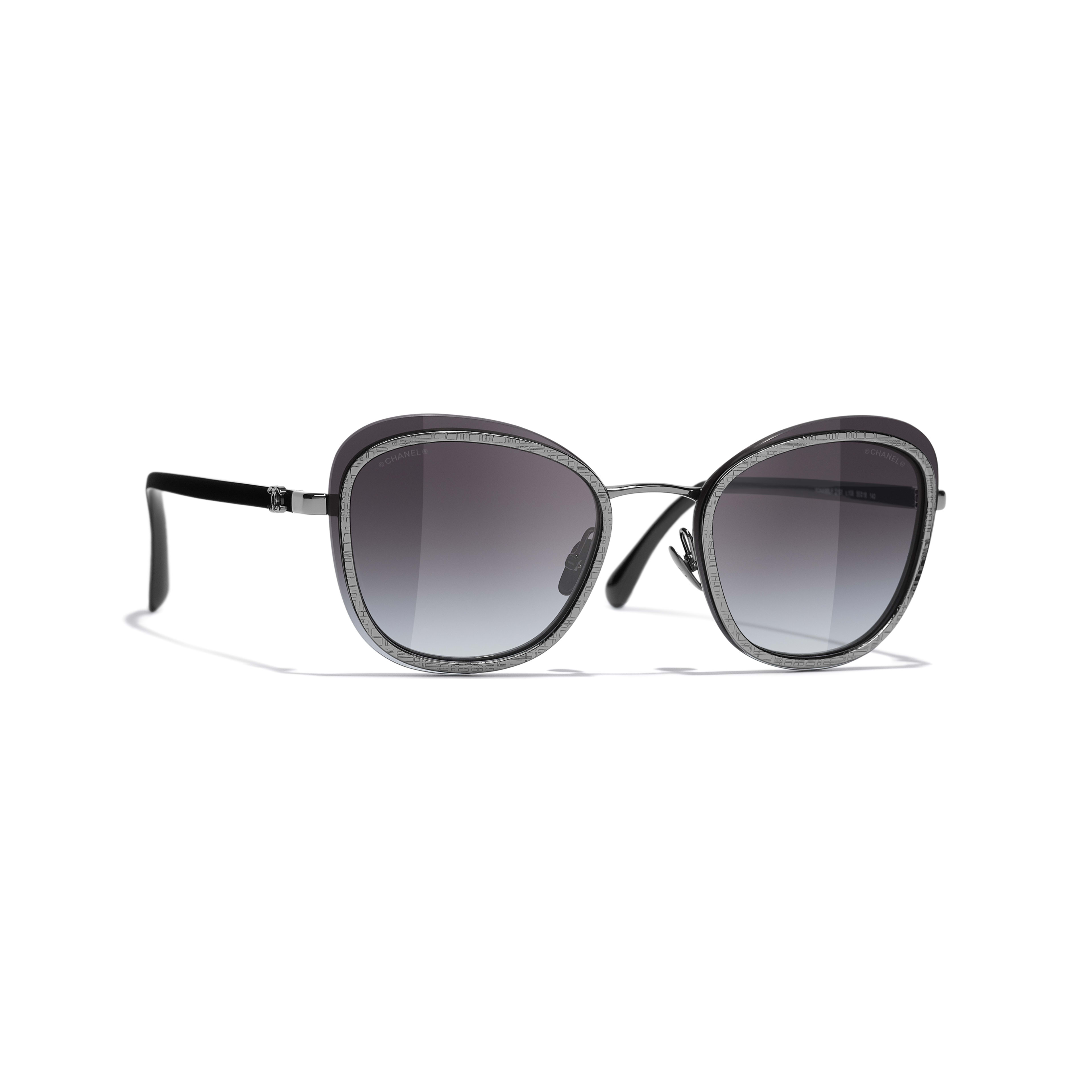 Pantos Sunglasses - Silver - Acetate & Metal - CHANEL - Default view - see standard sized version