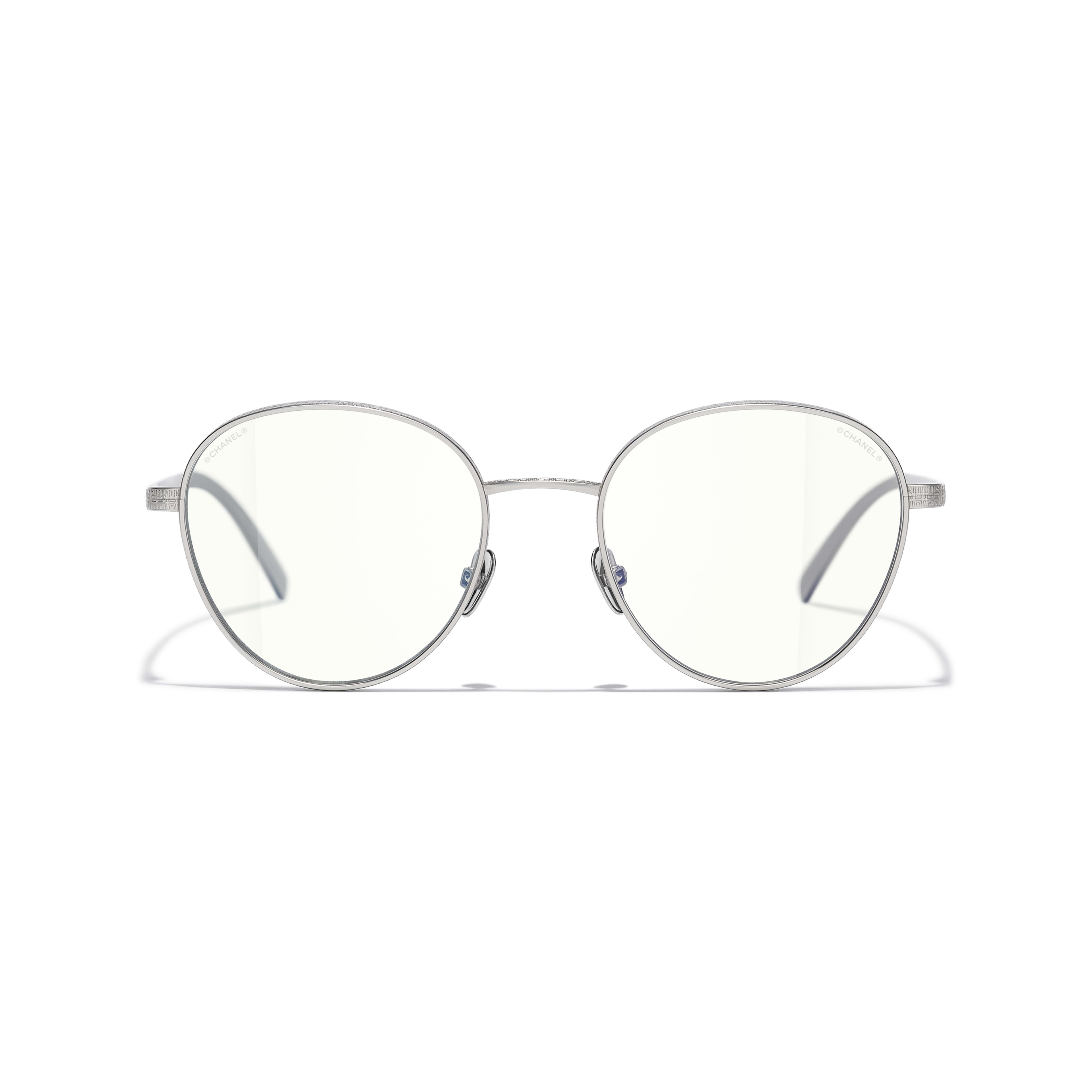 Pantos Sunglasses - Silver - Titanium - CHANEL - Alternative view - see standard sized version