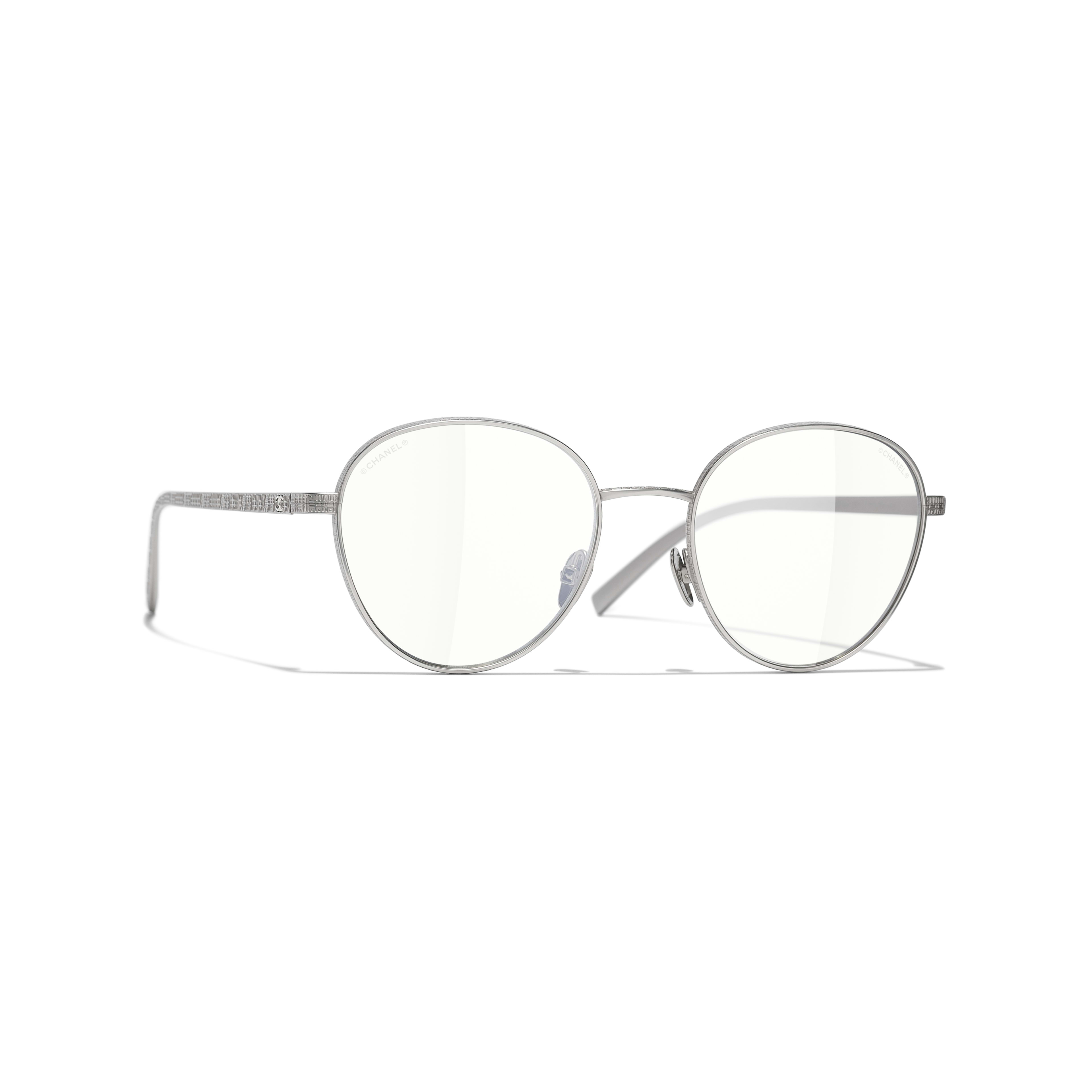 Pantos Sunglasses - Silver - Titanium - CHANEL - Default view - see standard sized version