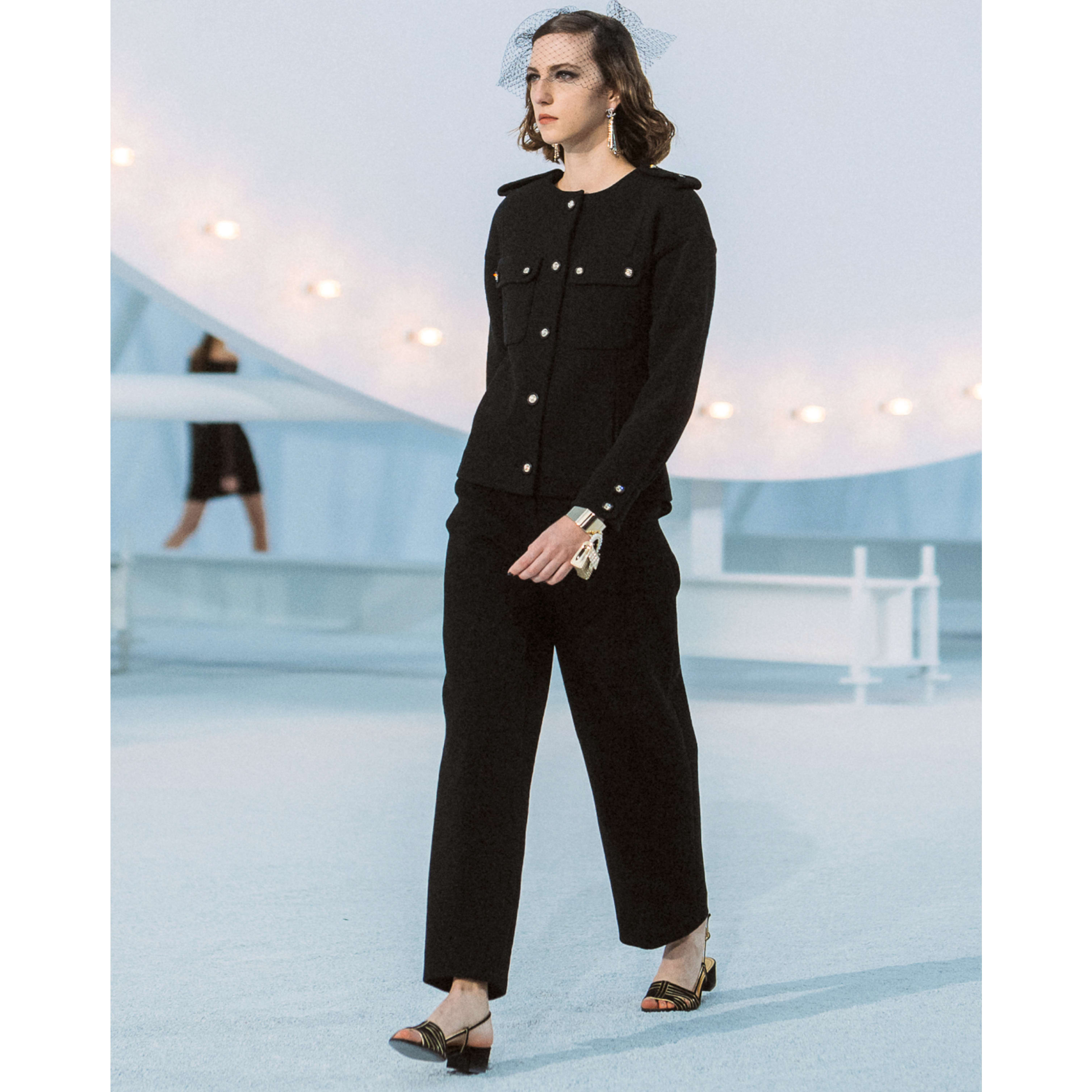 Trousers - Black - Cotton & Nylon Crepe - CHANEL - Default view - see standard sized version