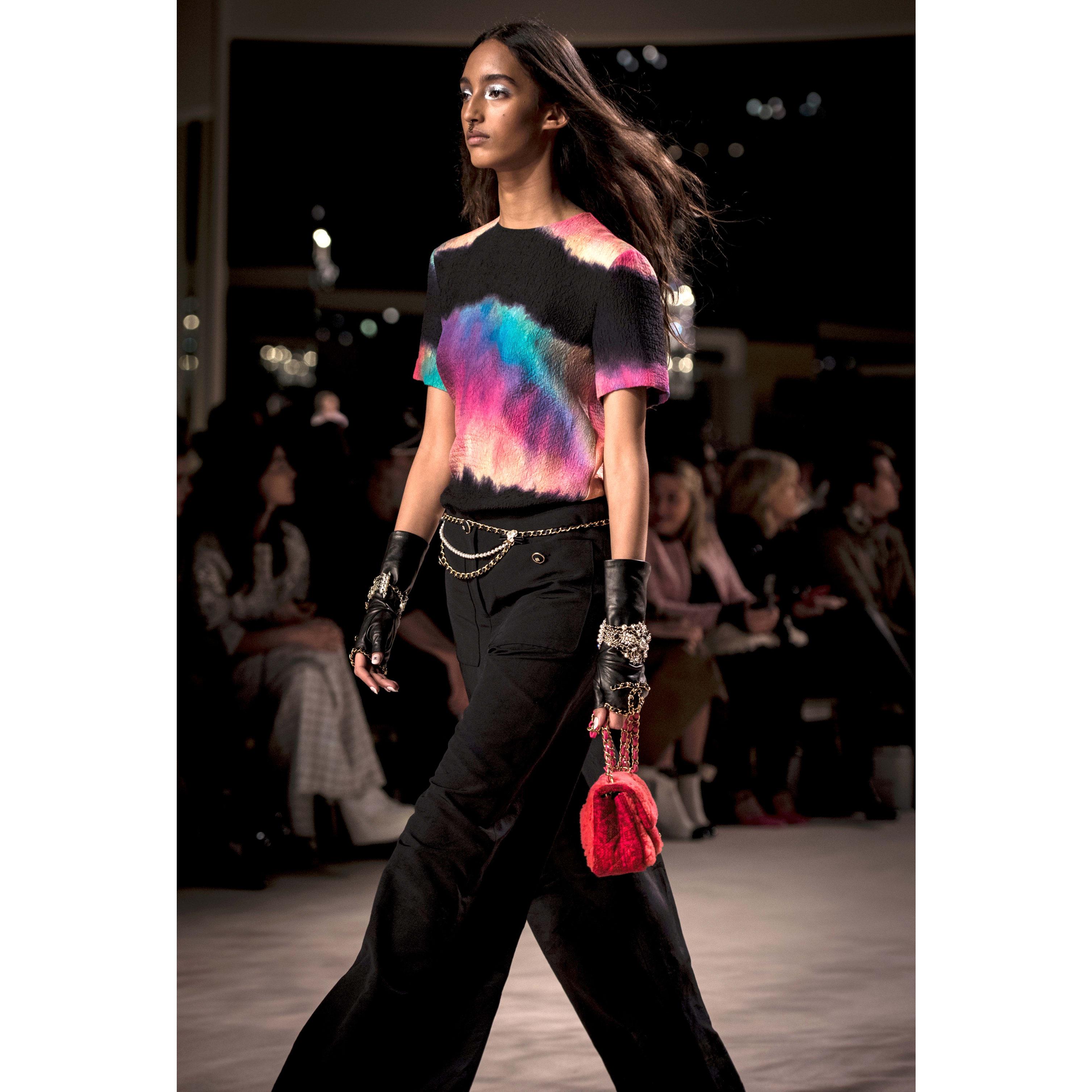 กางเกงขายาว - สีดำ - ผ้าคอตตอนและผ้าไหม - CHANEL - มุมมองทางอื่น - ดูเวอร์ชันขนาดมาตรฐาน