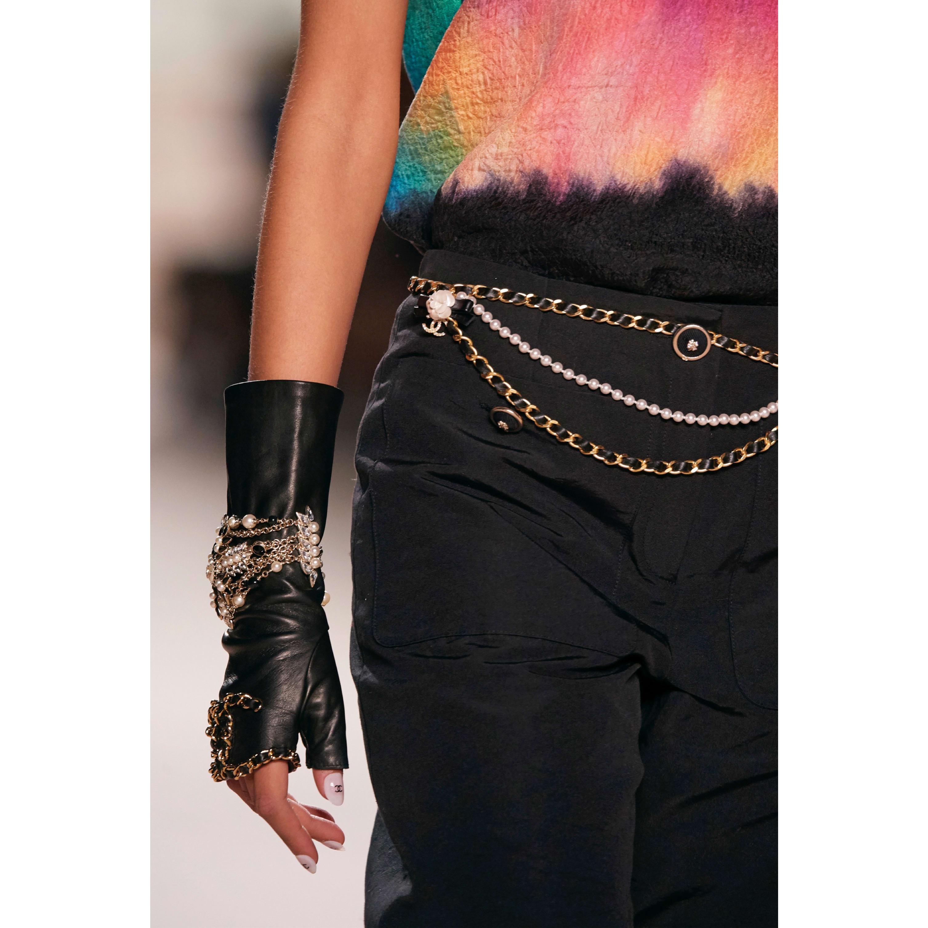 กางเกงขายาว - สีดำ - ผ้าคอตตอนและผ้าไหม - CHANEL - มุมมองอื่น - ดูเวอร์ชันขนาดมาตรฐาน